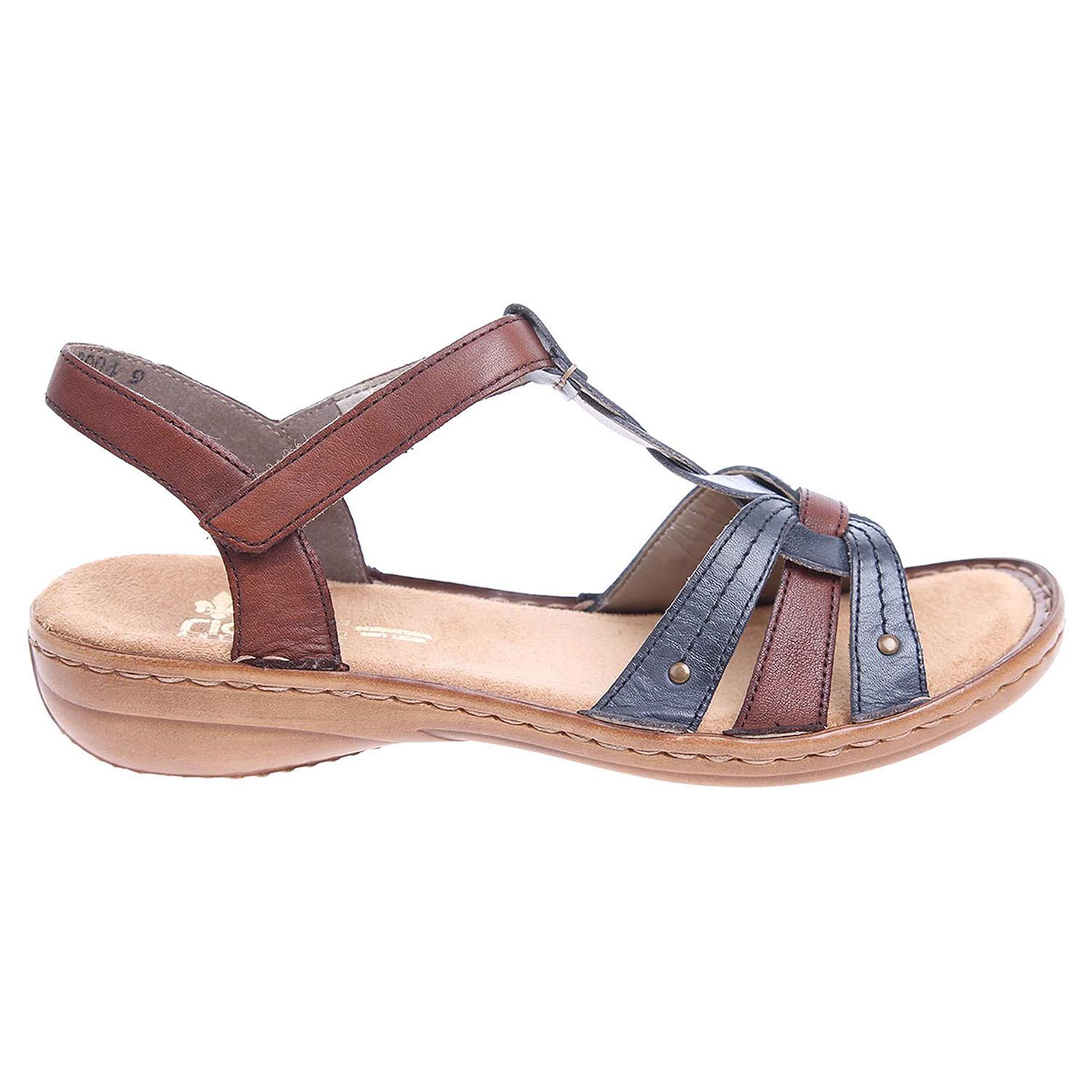 Rieker dámské sandály 60838-12 hnědá-modrá 36