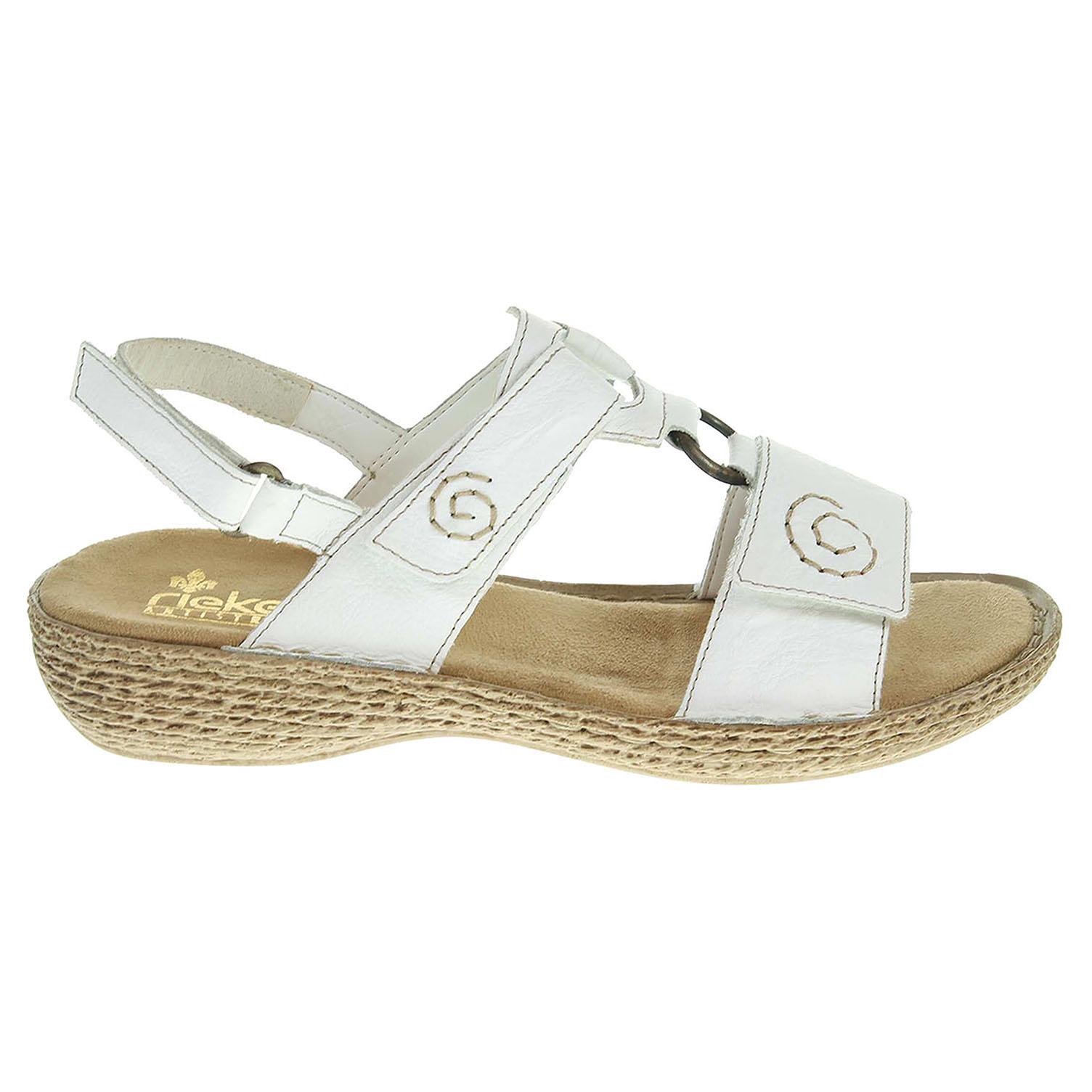 Rieker dámské sandály 65863-80 bílé 37