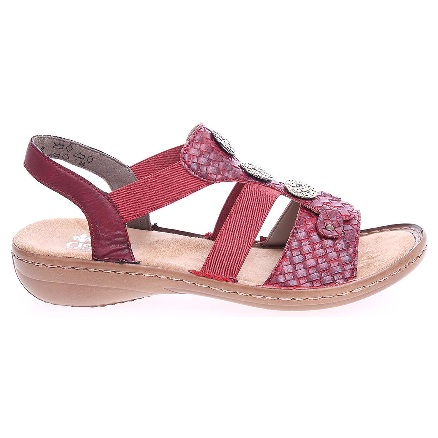 Rieker dámské sandály 608B4-35 červené 36 červená červená