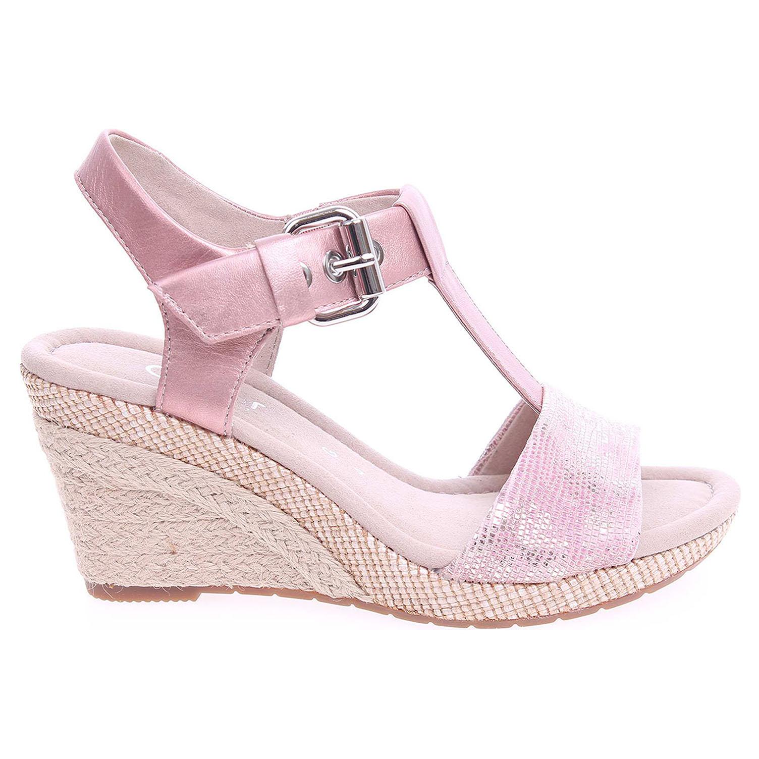 Ecco Gabor dámské sandály 42.824.68 růžové 23800988