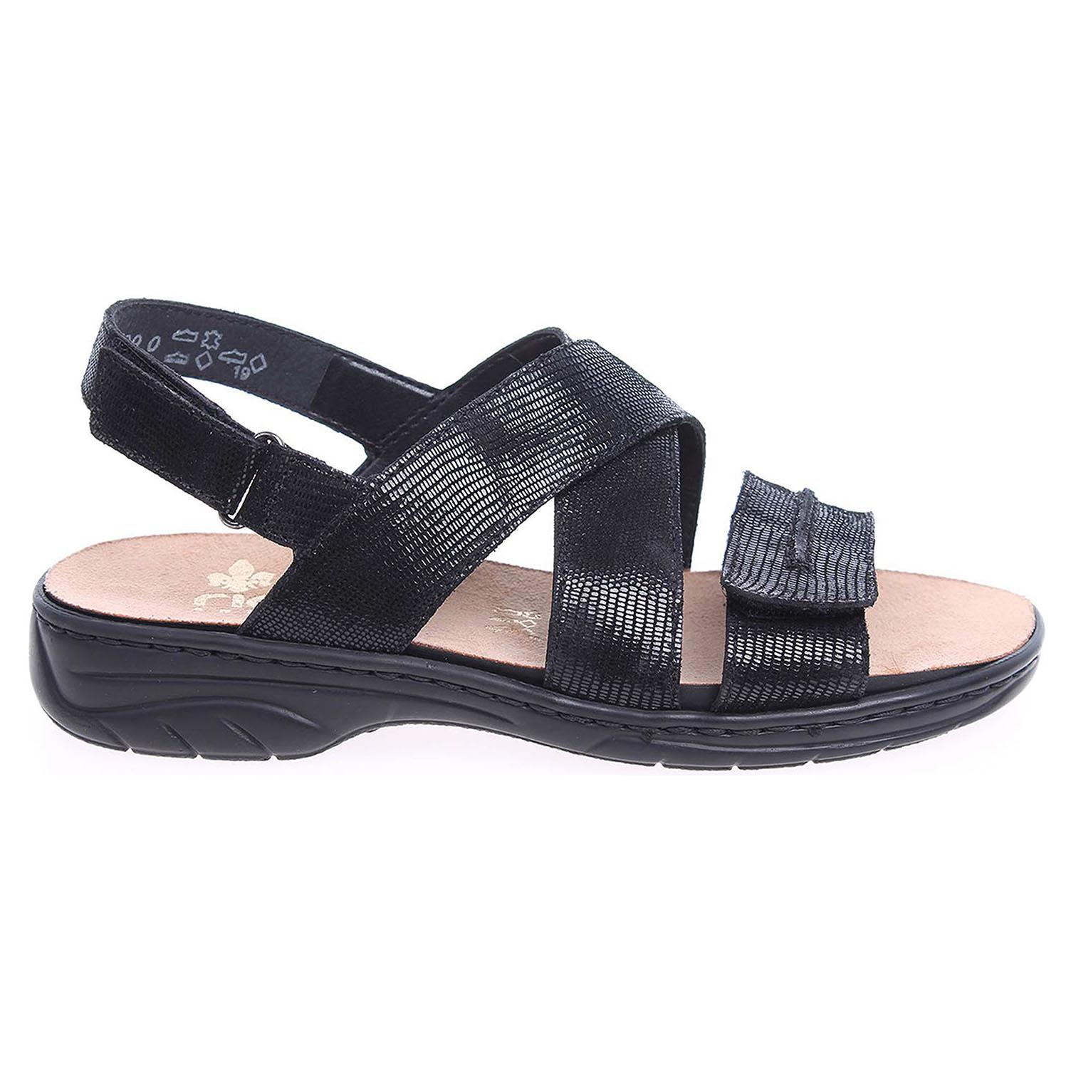 Rieker dámské sandály 64598-00 černé 37