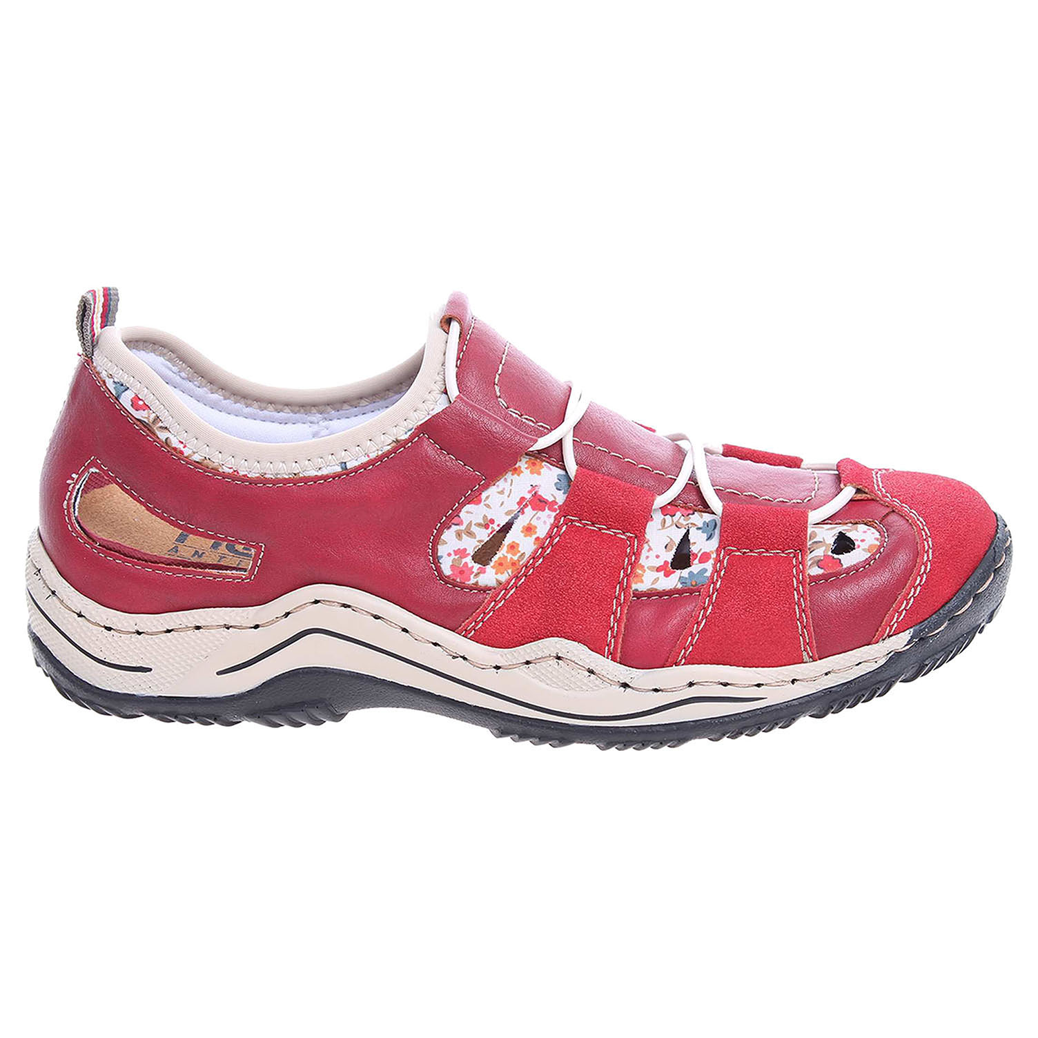 Ecco Rieker dámské sandály L0561-33 červené 23800994
