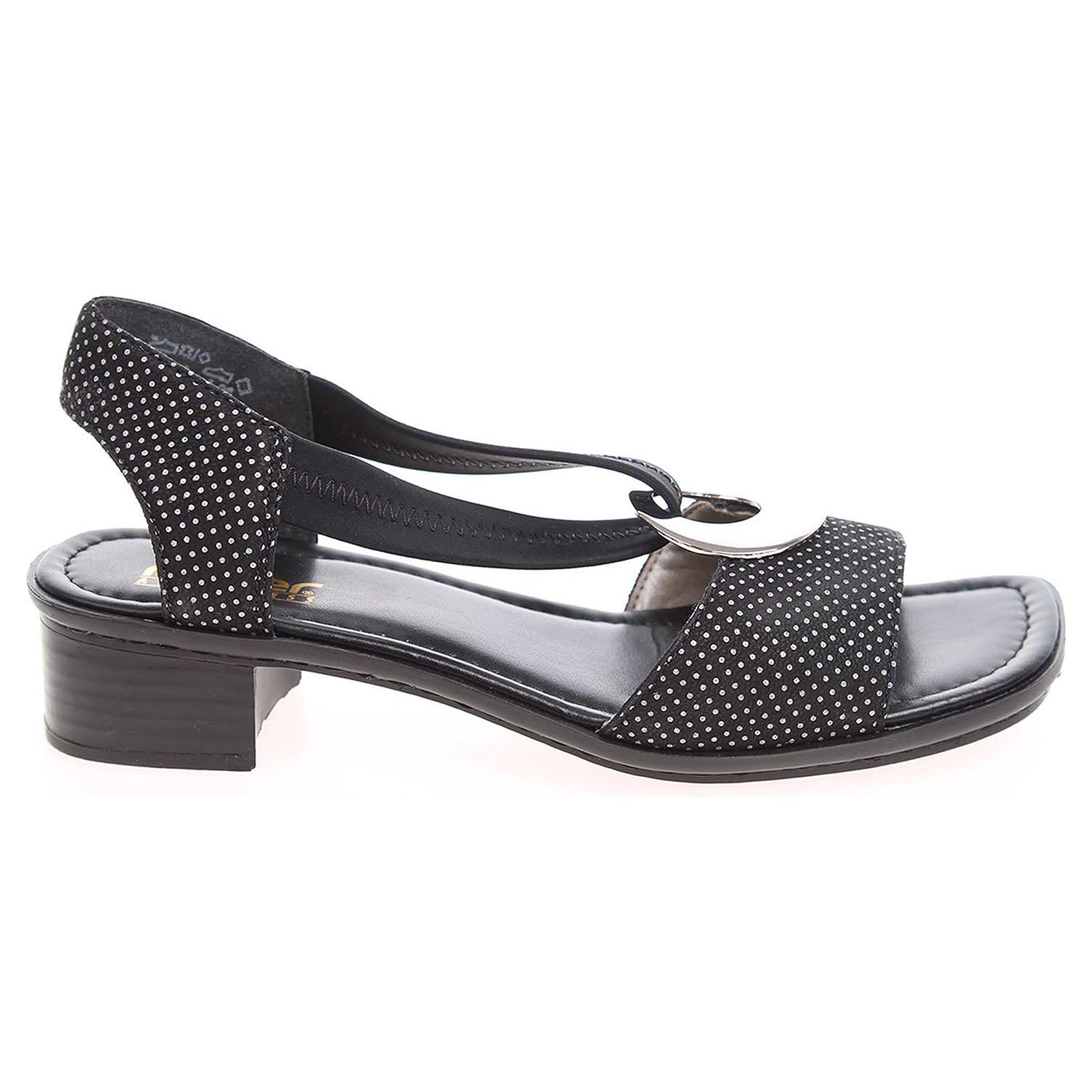 Rieker dámské sandály 62662-02 černé 38