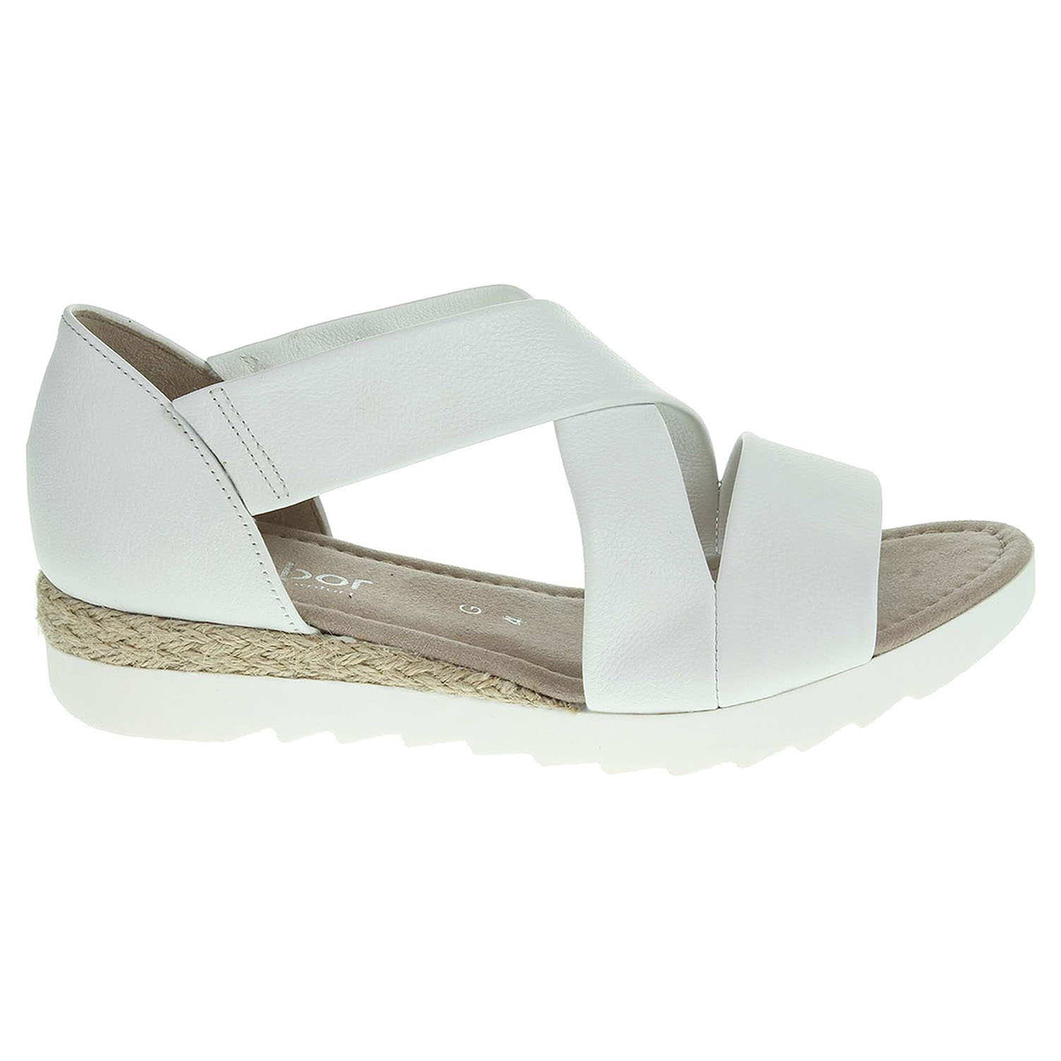 Ecco Gabor dámské sandály 62.711.50 bílé 23800996