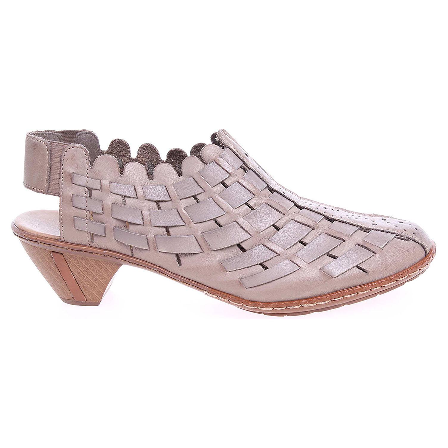 Ecco Rieker dámské sandály 46778-20 béžová-šedá 23800998