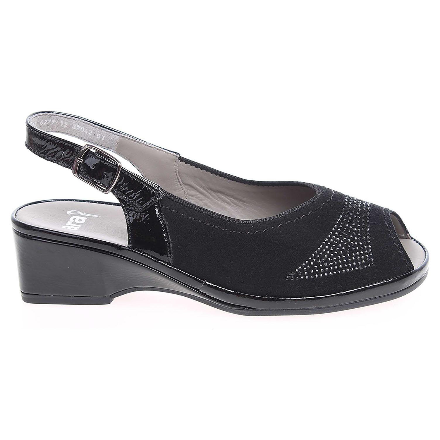 Ecco Ara dámské sandály 37042-01 černé 23801017