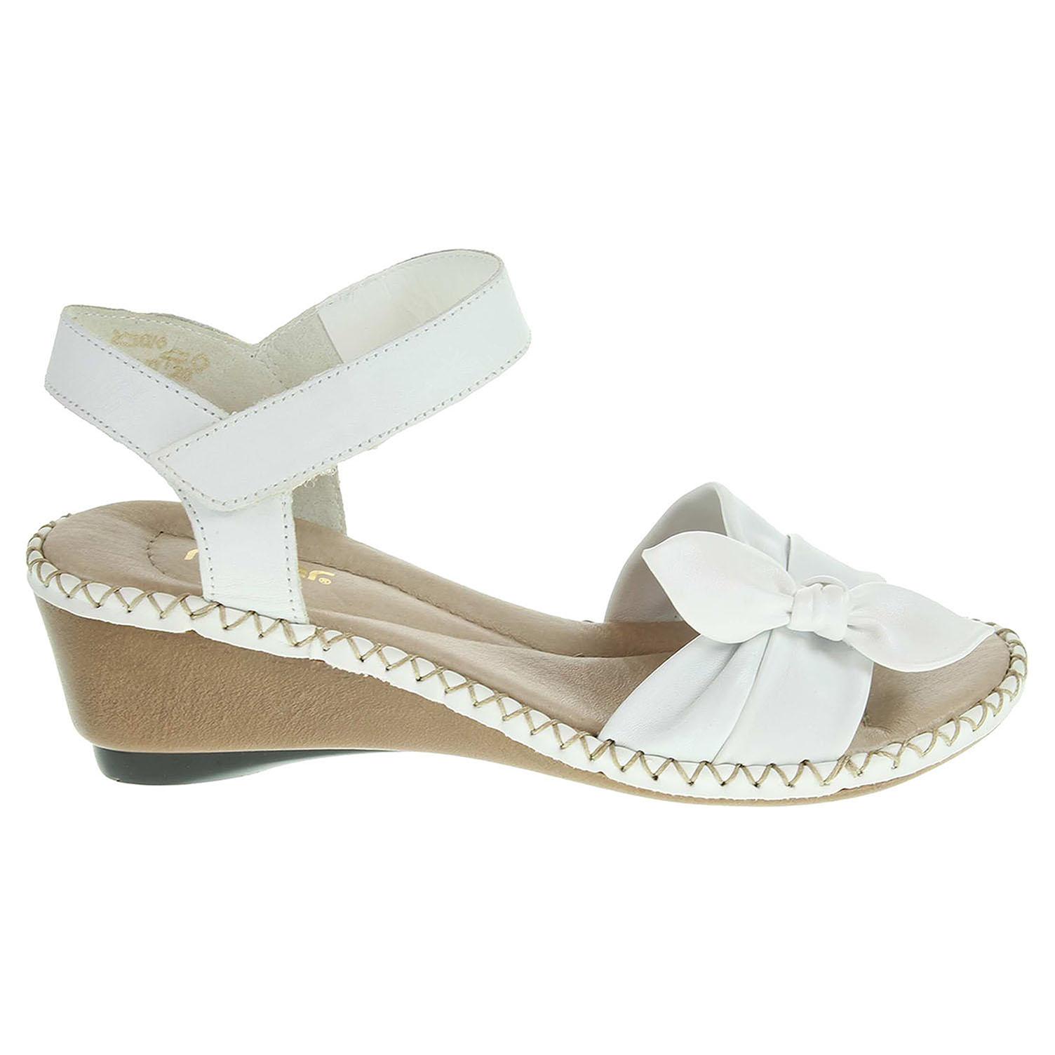 Rieker dámské sandály 66173-80 bílé 40