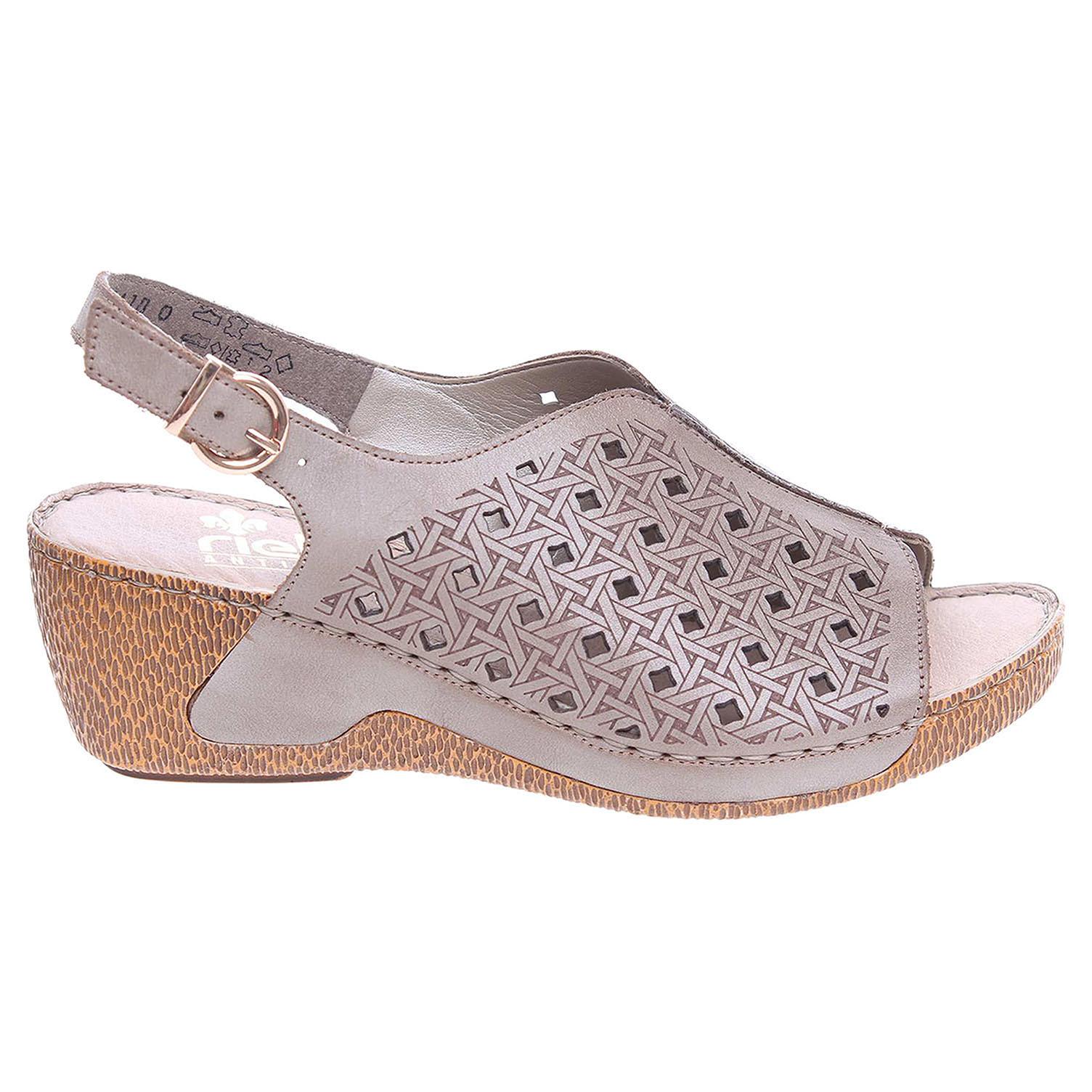 Rieker dámské sandály 65696-62 béžové 37