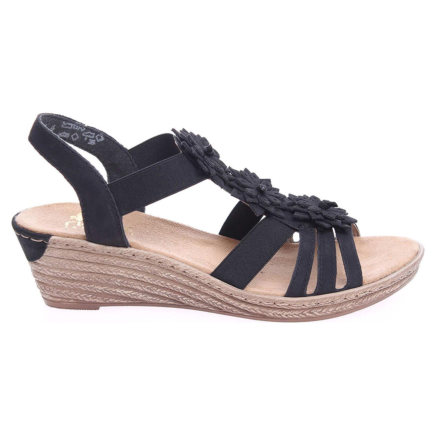 Ecco Rieker dámské sandály 62461-00 černé 23801044