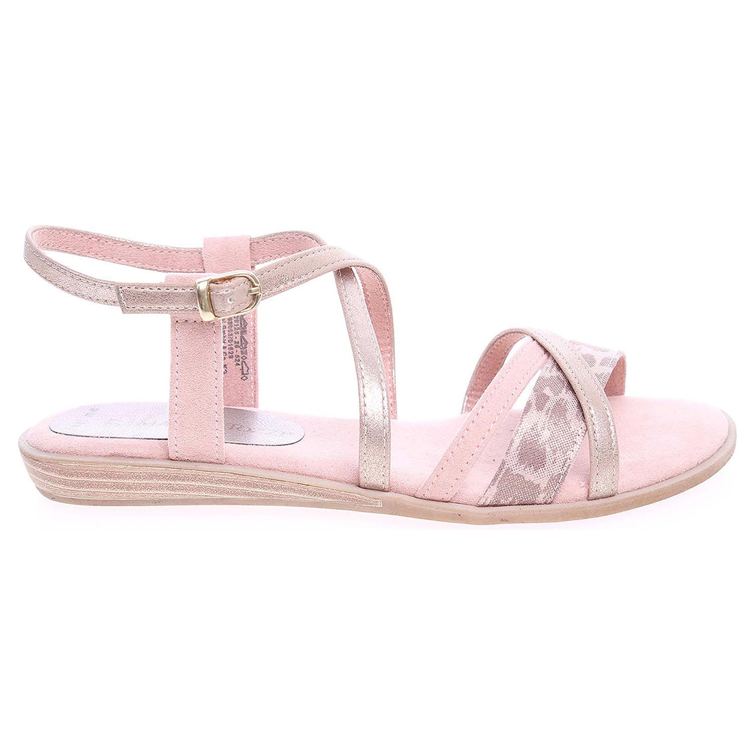 Ecco Marco Tozzi dámské sandály 2-28125-26 růžová-zlatá 23801050