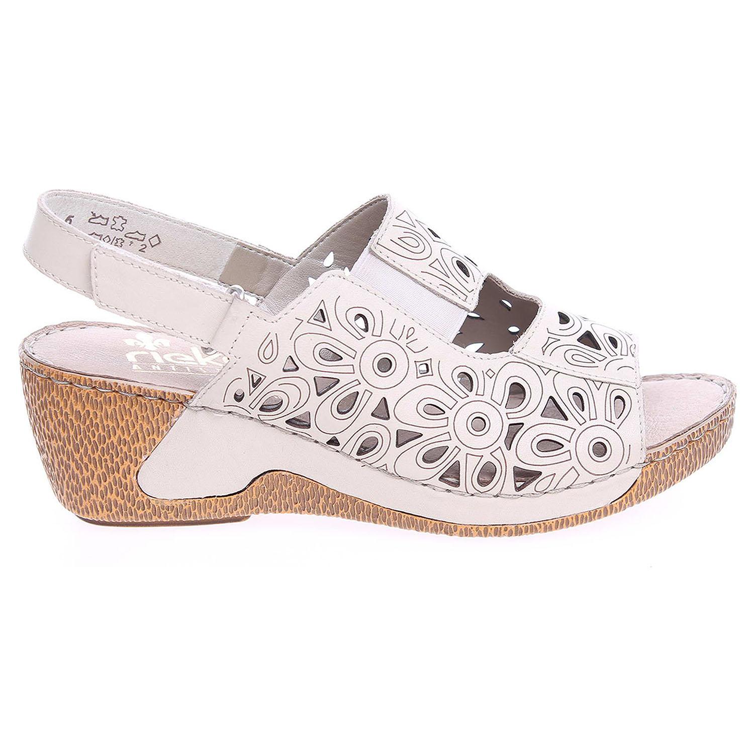 Rieker dámské sandály 65695-80 béžové 42