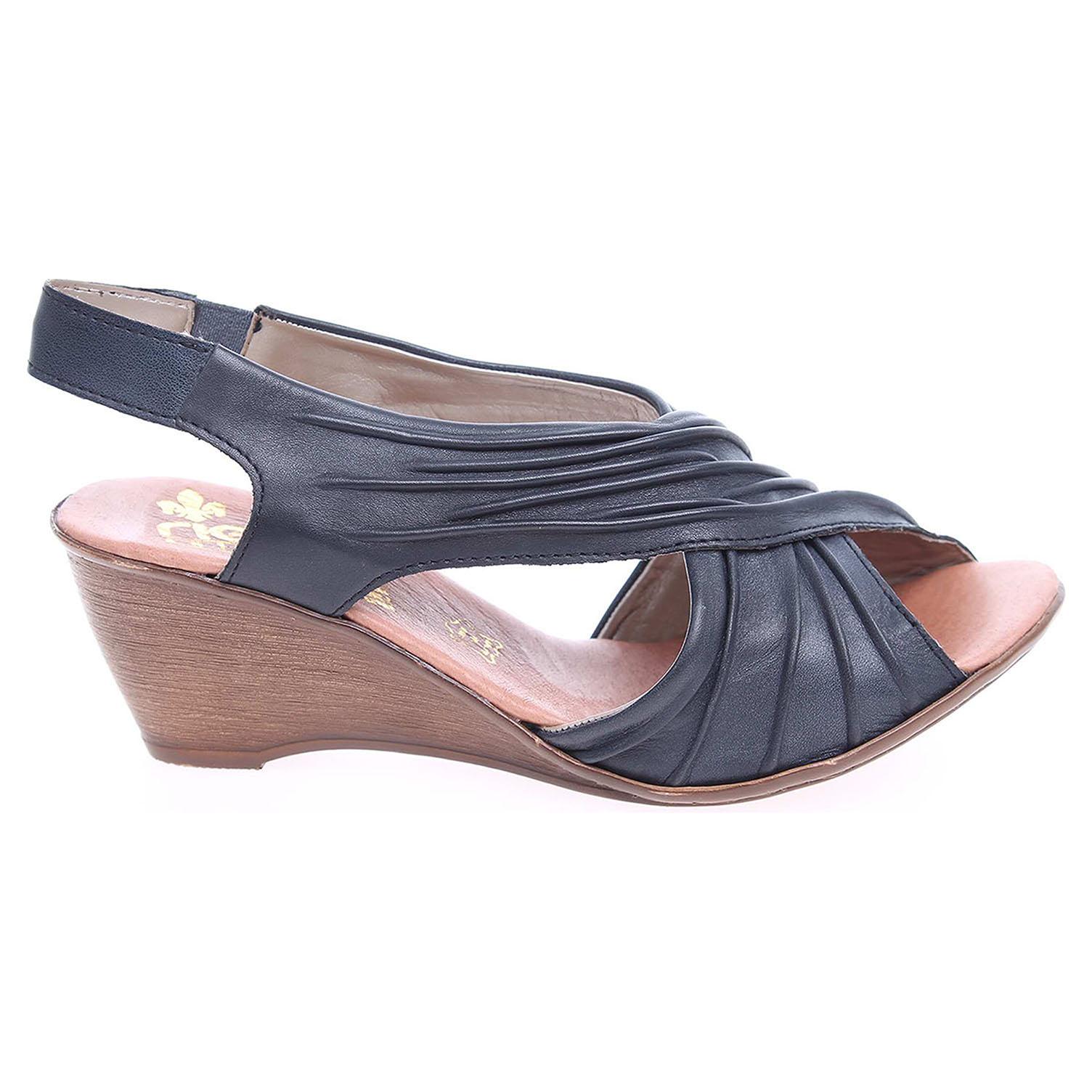 Rieker dámské sandály V1173-12 modré 37