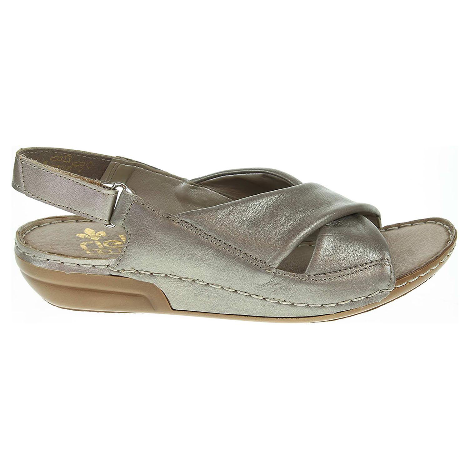 Rieker dámské sandály 69573-90 platina 37