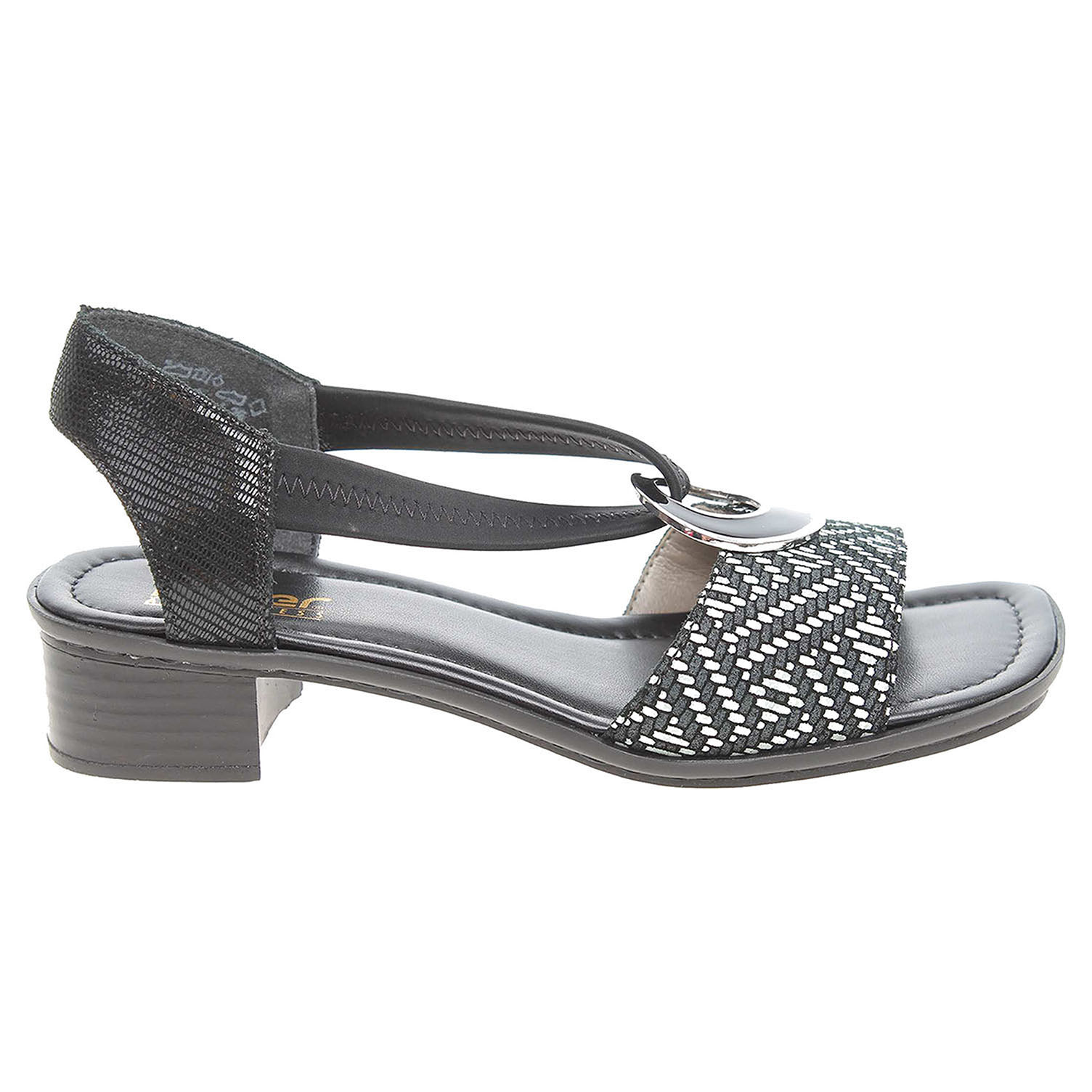 Ecco Rieker dámské sandály 62689-00 černé 23801104