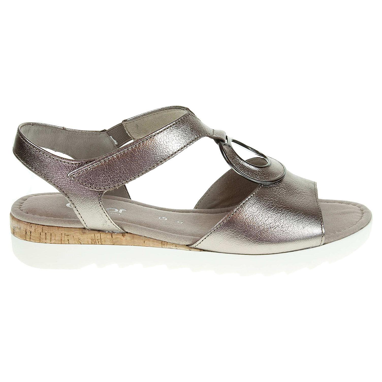 Ecco Gabor dámské sandály 62.745.65 bronzové 23801106