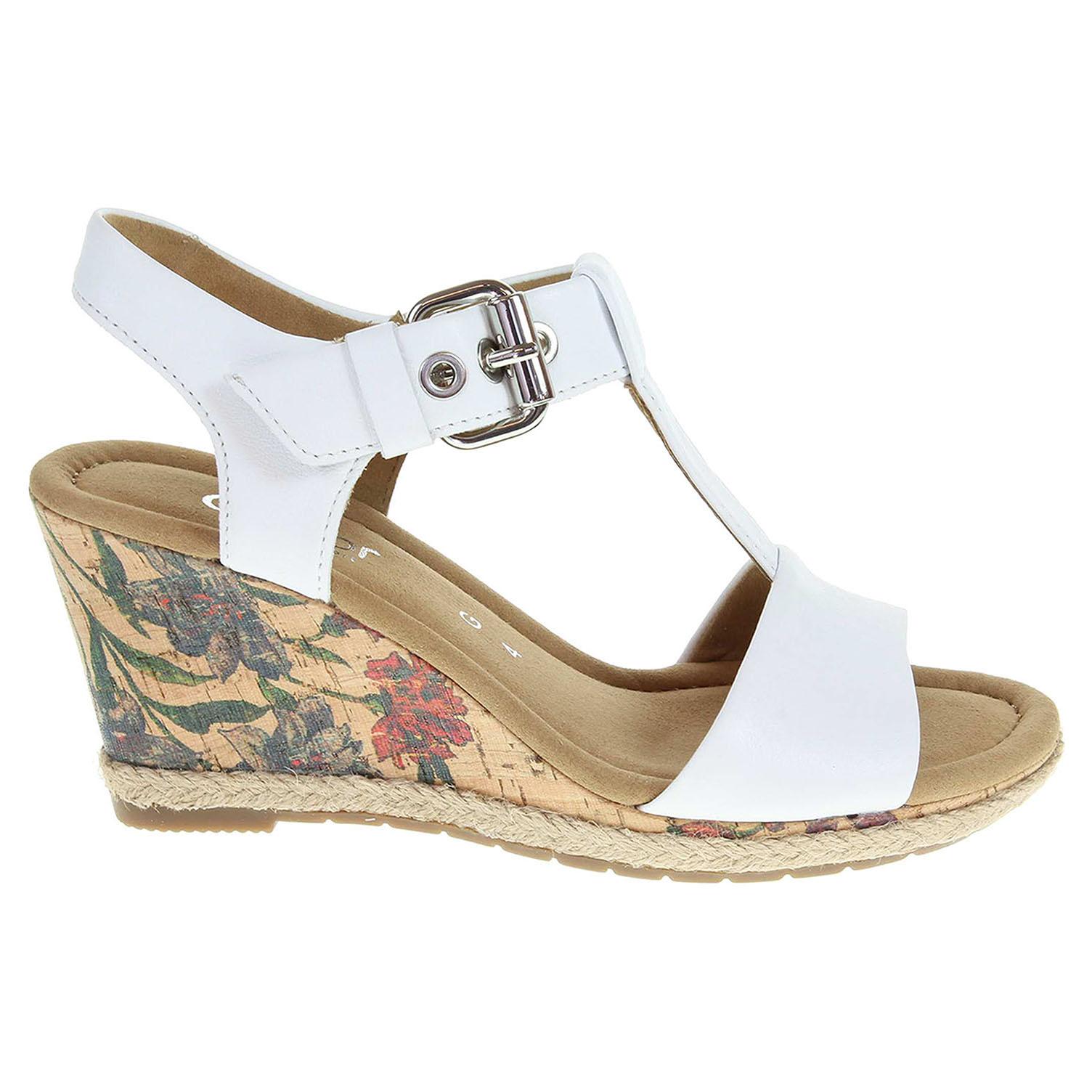 Ecco Gabor dámské sandály 62.824.51 bílé 23801107