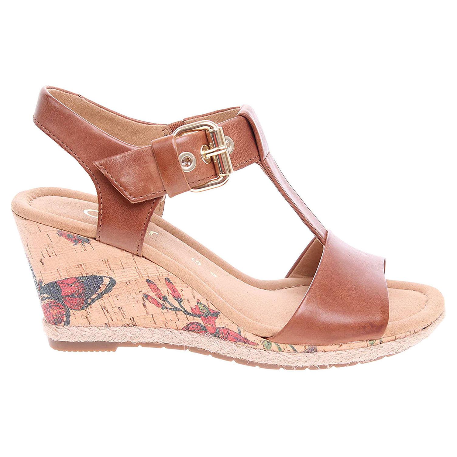 Ecco Gabor dámské sandály 62.824.55 hnědé 23801108