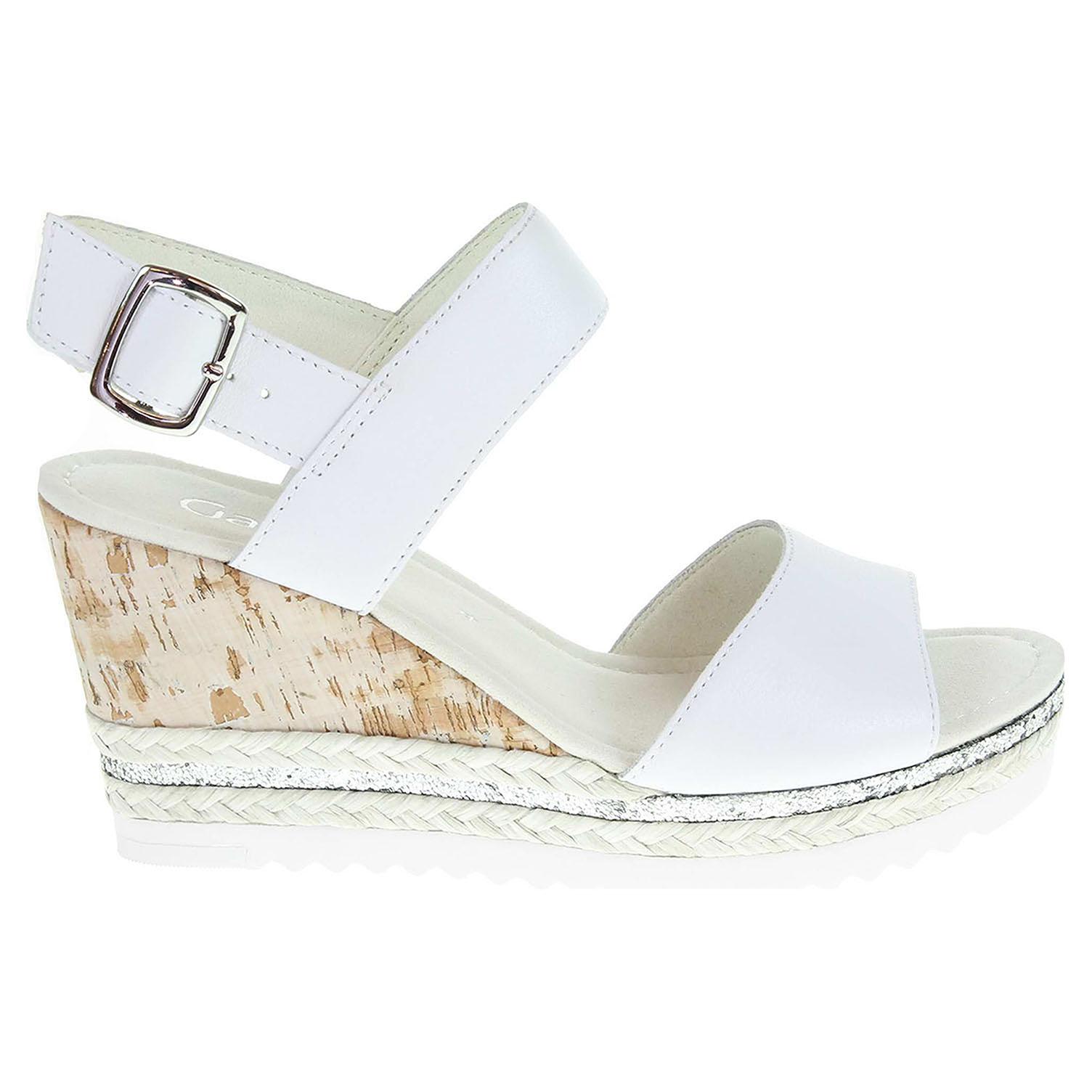 Ecco Gabor dámské sandály 65.790.50 bílé 23801109