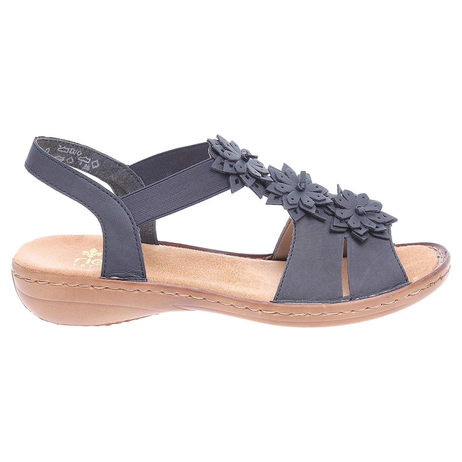 Rieker dámské sandály 608S5-14 modré 37 modrá modrá