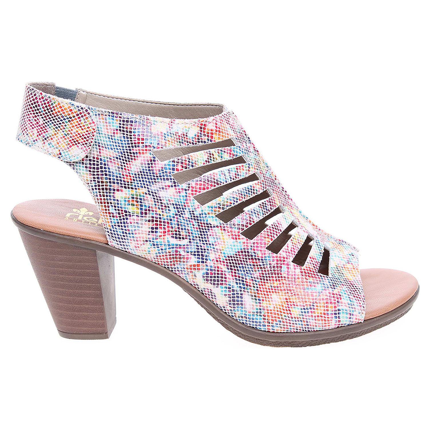 Ecco Rieker dámské sandály 64195-90 multi 23801115