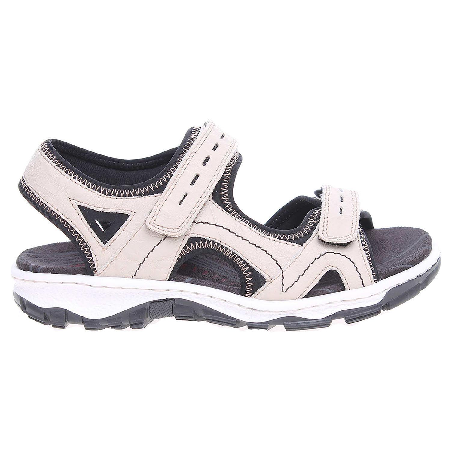 Ecco Rieker dámské sandály 68866-60 béžové 23801116
