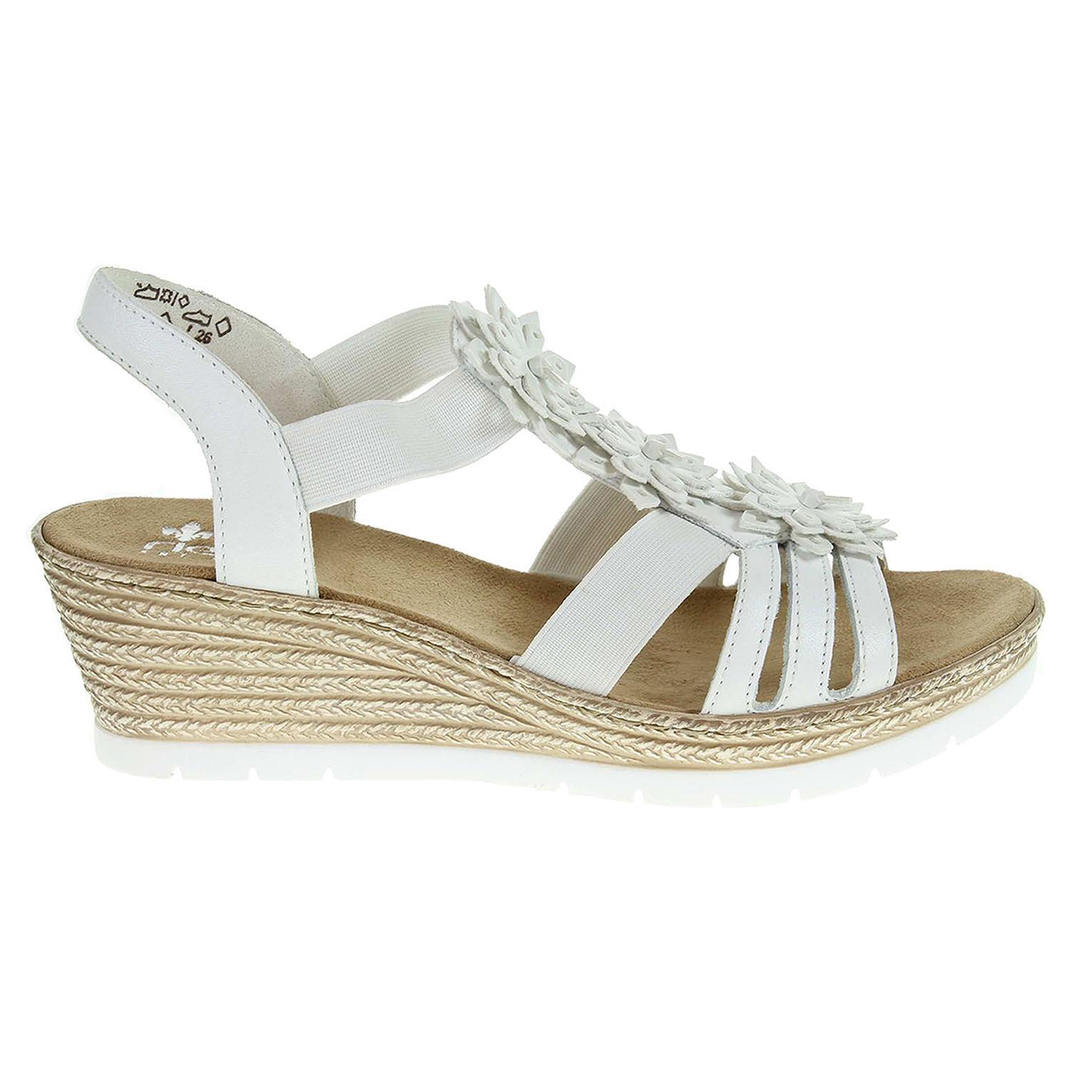 Ecco Rieker dámské sandály 61949-80 bílé 23801119