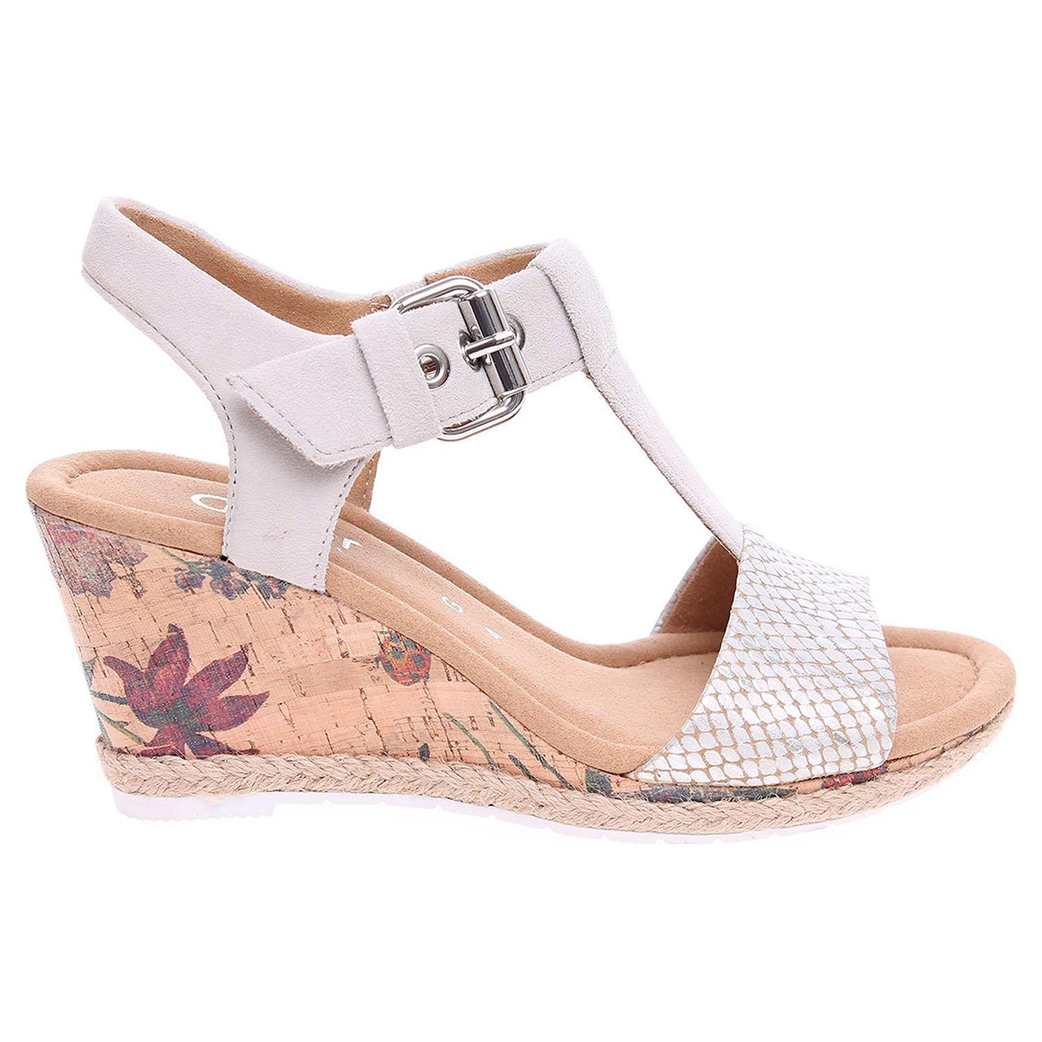 Ecco Gabor dámské sandály 62.824.11 stříbrná 23801120