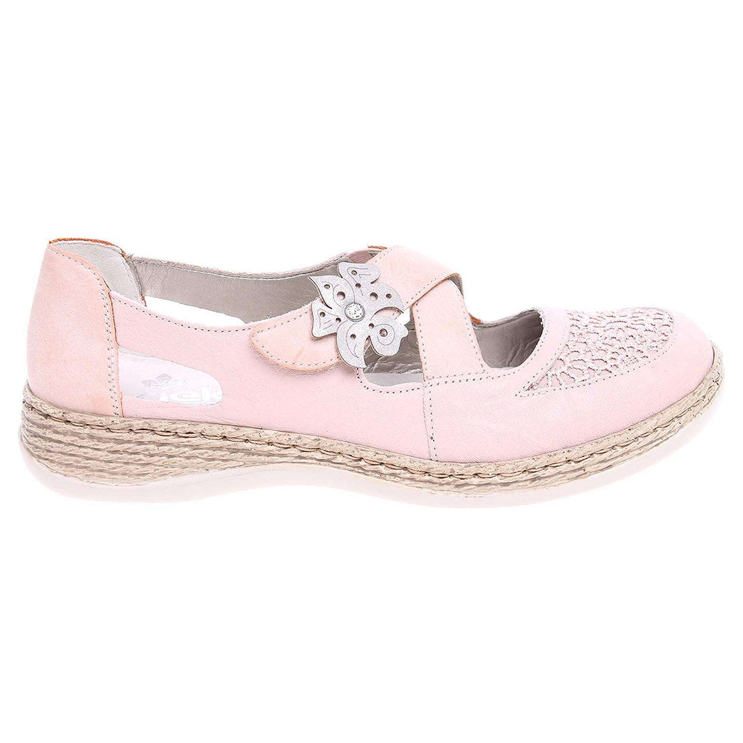 Ecco Rieker dámské sandály 464H0-31 růžové 23801121