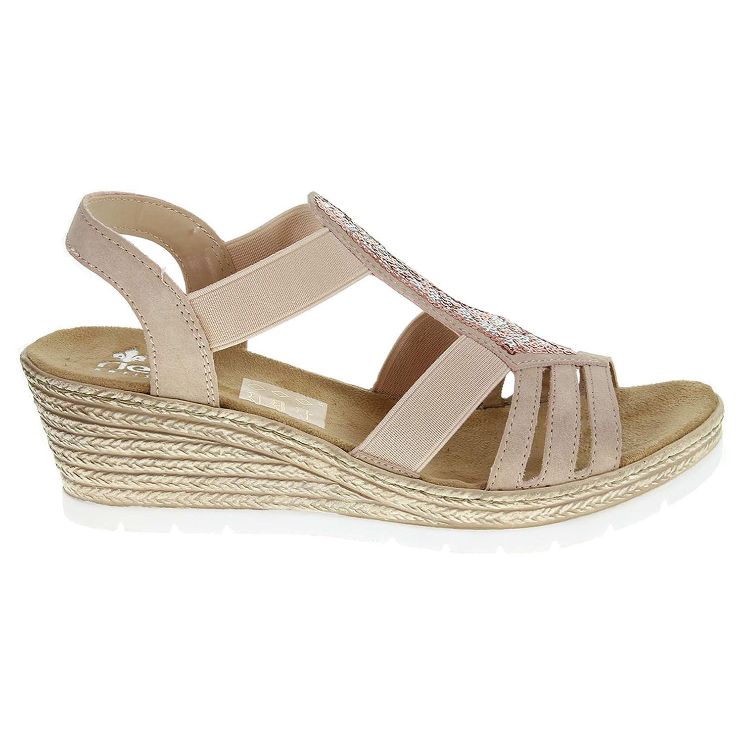 Rieker dámské sandály 61913-31 růžové 37