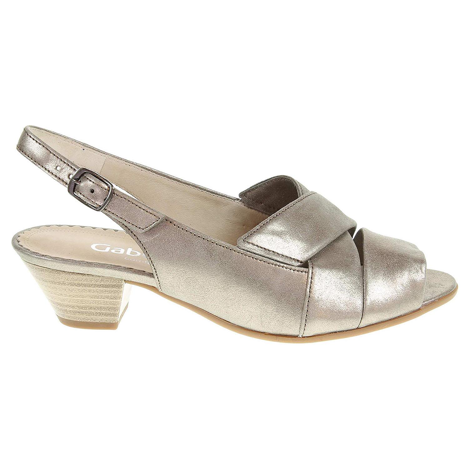 Ecco Gabor dámské sandály 66.571.62 zlaté 23801134