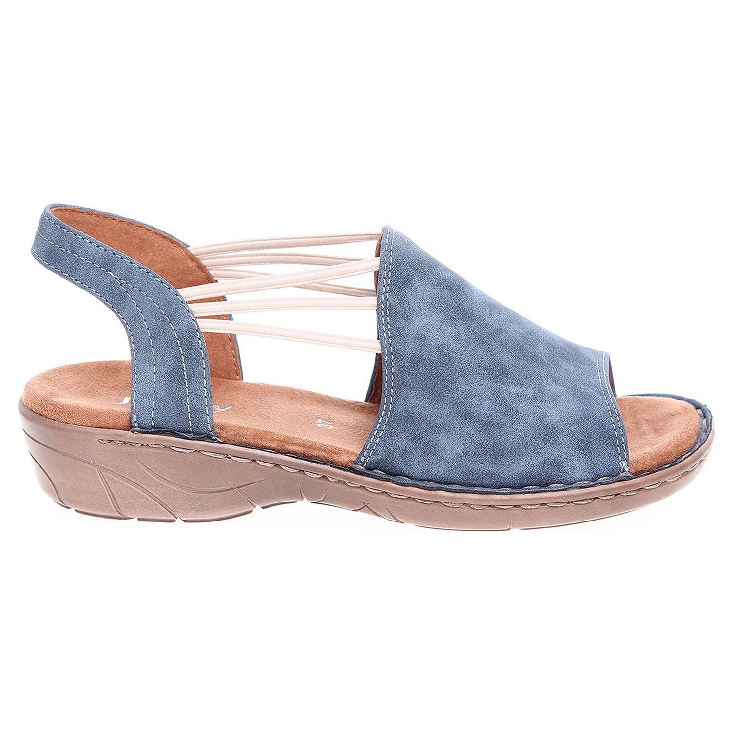 Ecco Ara dámské sandály 57283-77 modré 23801143