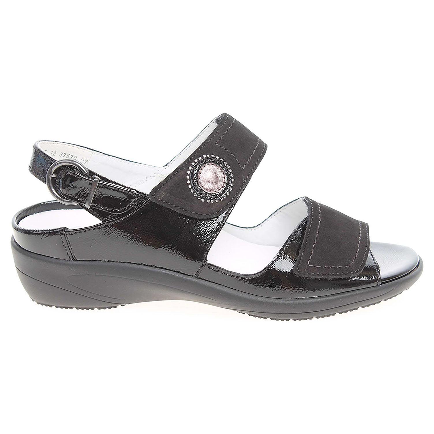 Ecco Ara dámské sandály 37578-07 černé 23801146