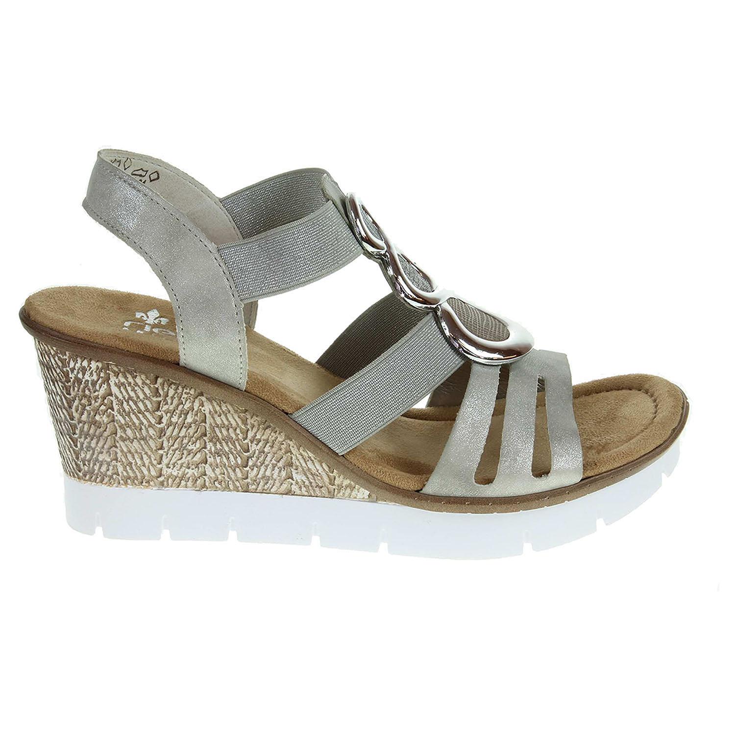Rieker dámské sandály 65540-40 šedé 38