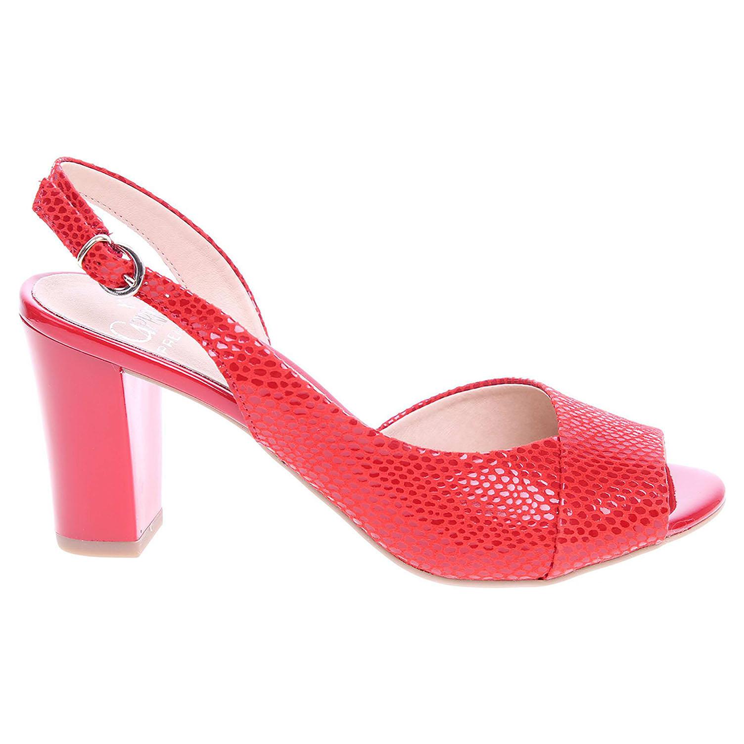 Ecco Caprice dámské sandály 9-28304-28 červené 23801167