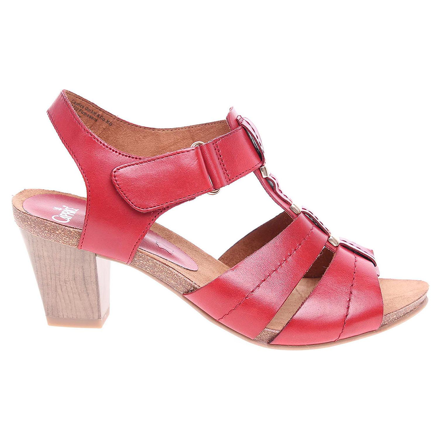 Ecco Caprice dámské sandály 9-28309-28 červené 23801169