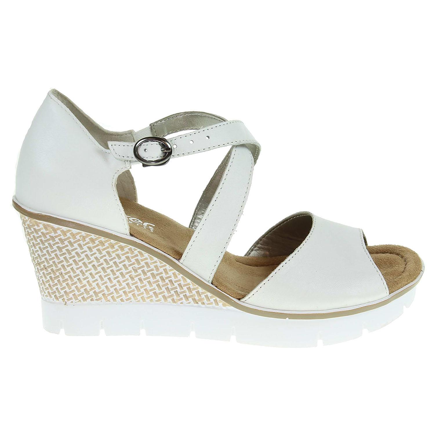 Rieker dámské sandály 68548-80 bílé 37