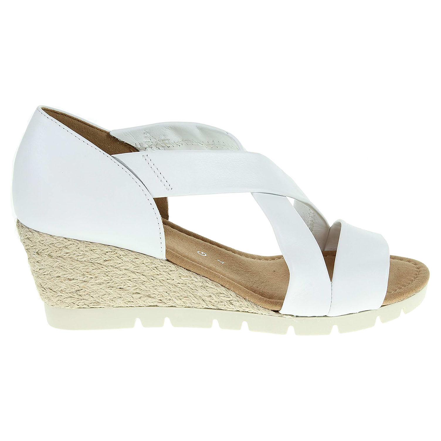 Ecco Gabor dámské sandály 62.853.50 bílé 23801177