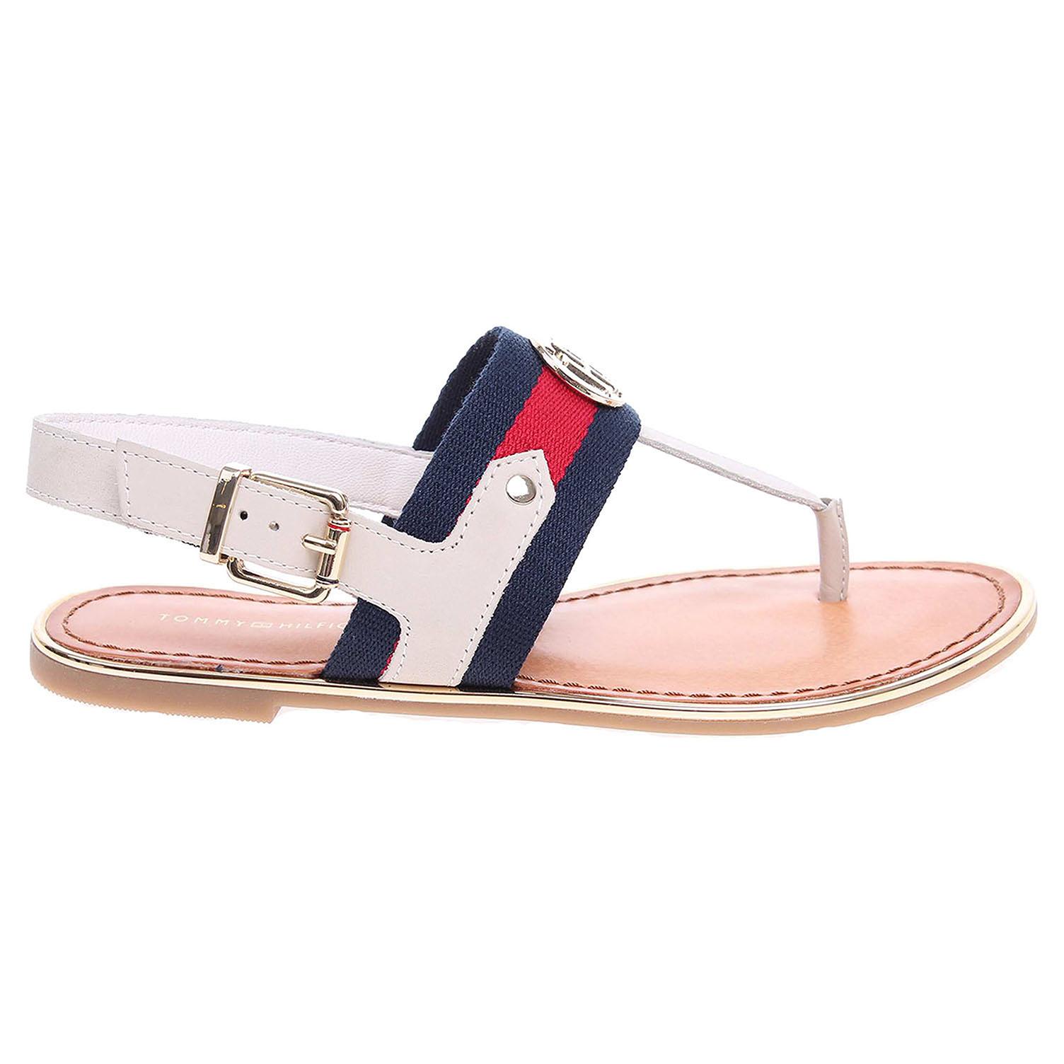 Ecco Tommy Hilfiger dámské sandály FW0FW00261 J1285ULIA 65C bílé 23801189