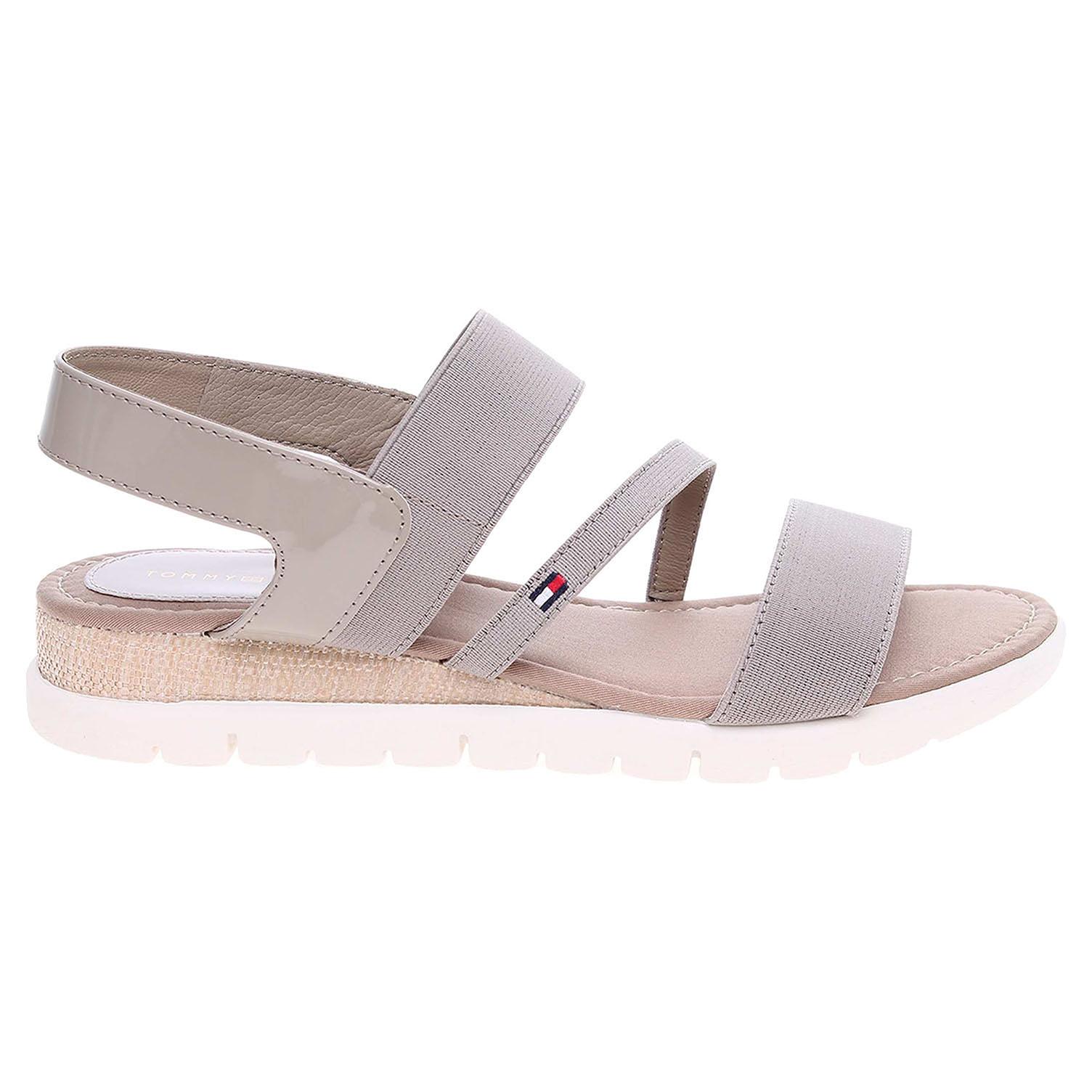 Ecco Tommy Hilfiger dámské sandály FW0FW00300 M1285ADALENE 3D béžové 23801191