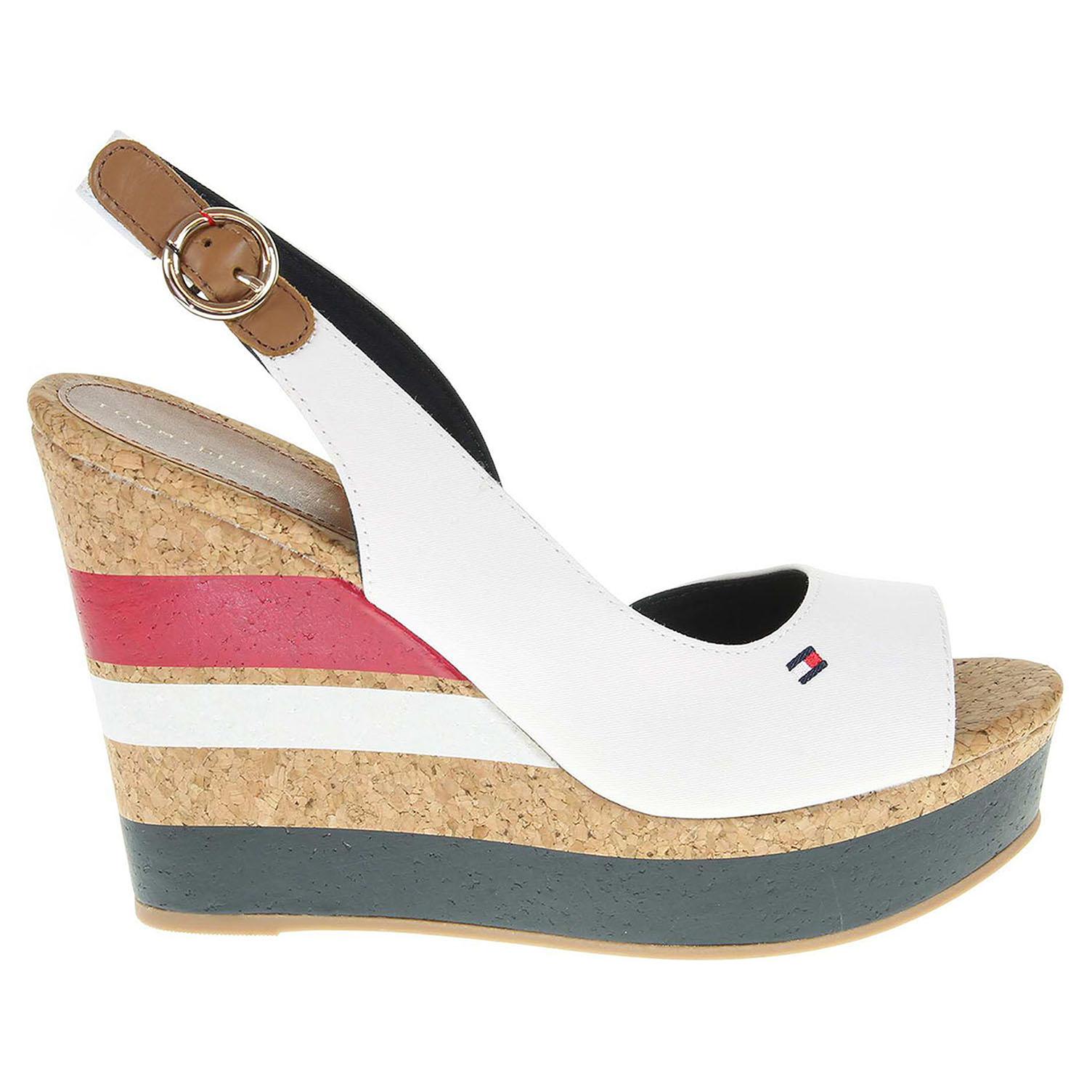 Ecco Tommy Hilfiger dámské sandály FW0FW00858 INT-E1285STELLE 38C bílé 23801194