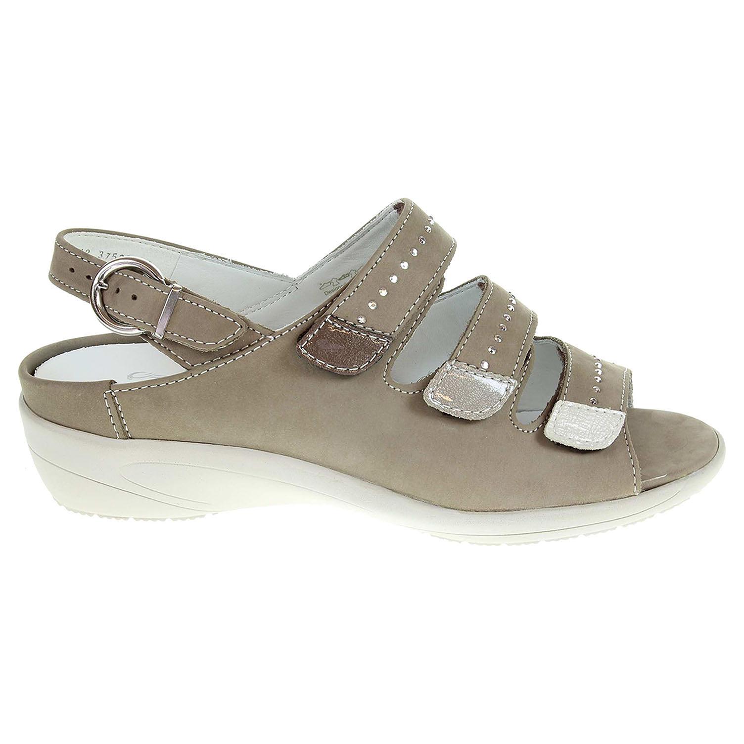 Ecco Ara dámské sandály 37525-09 béžové 23801204