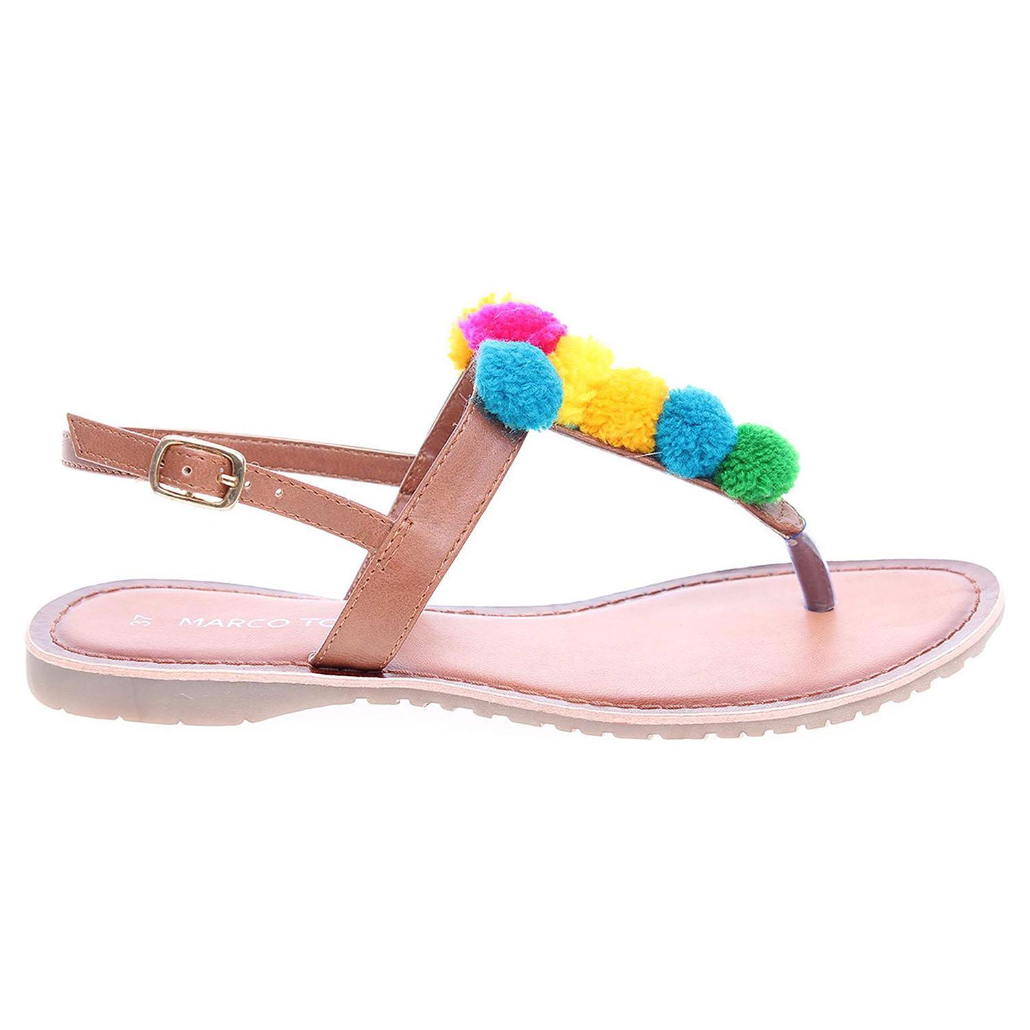 Ecco Marco Tozzi dámské sandály 2-28127-28 hnědé 23801213