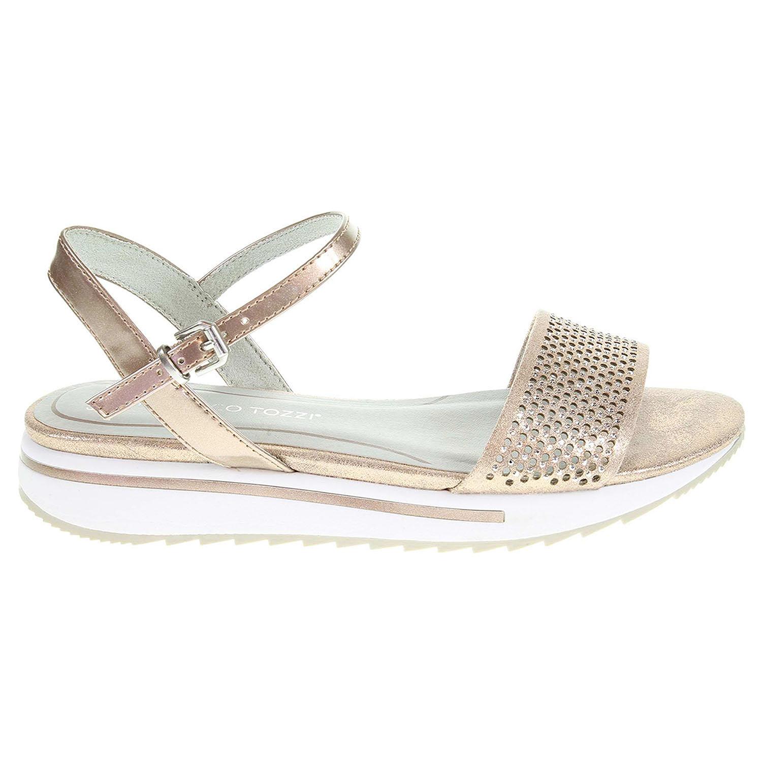 Ecco Marco Tozzi dámské sandály 2-28721-28 růžové 23801215