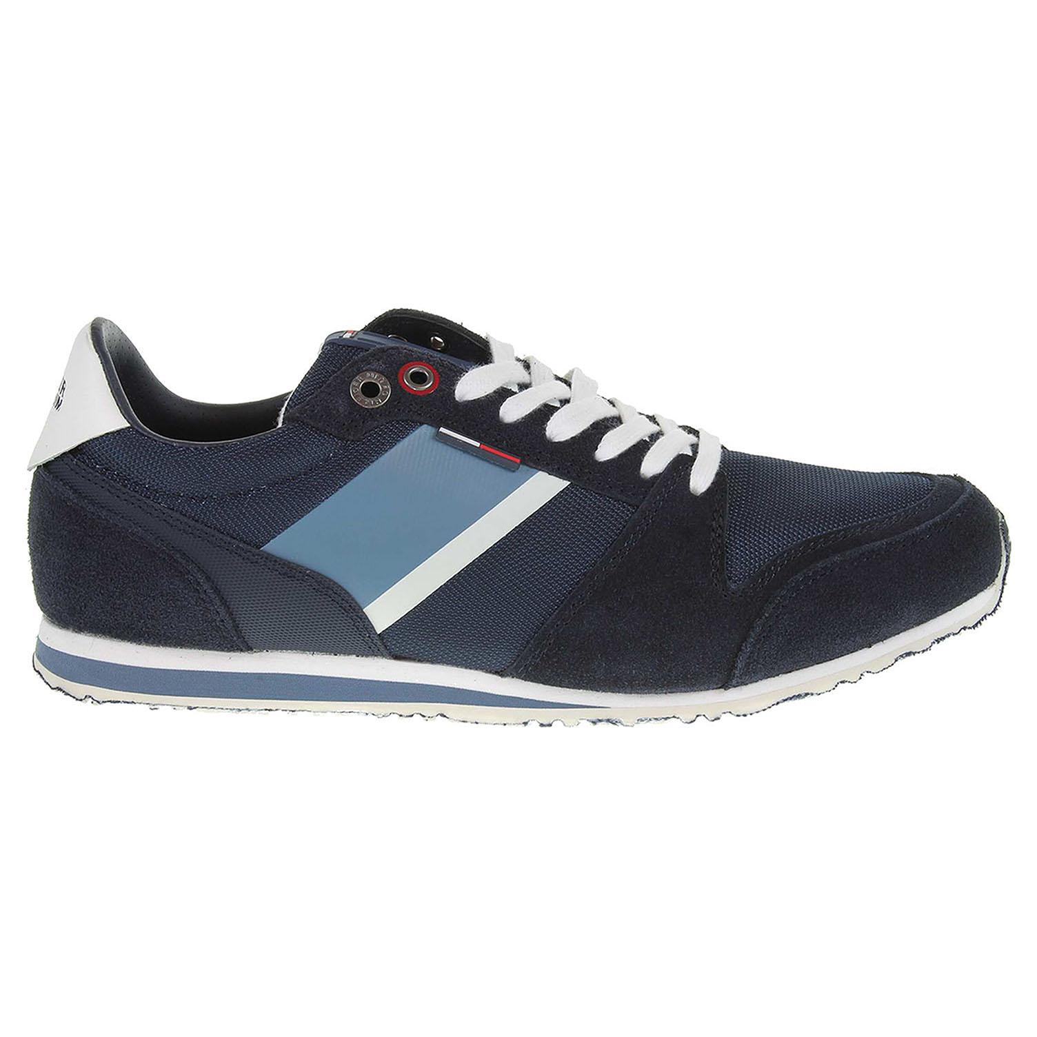 Ecco Tommy Hilfiger pánská obuv FM0FM00327 S2385PRINT 2C1 modrá 24000443