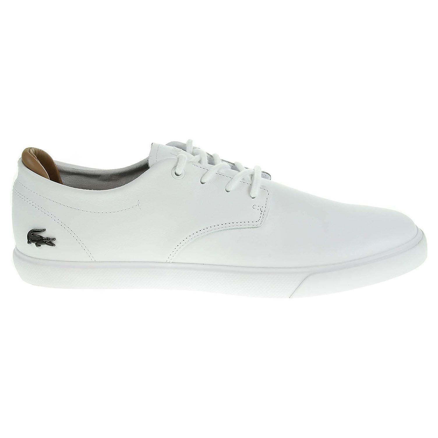 Ecco Lacoste Espere pánská obuv bílá 24000451
