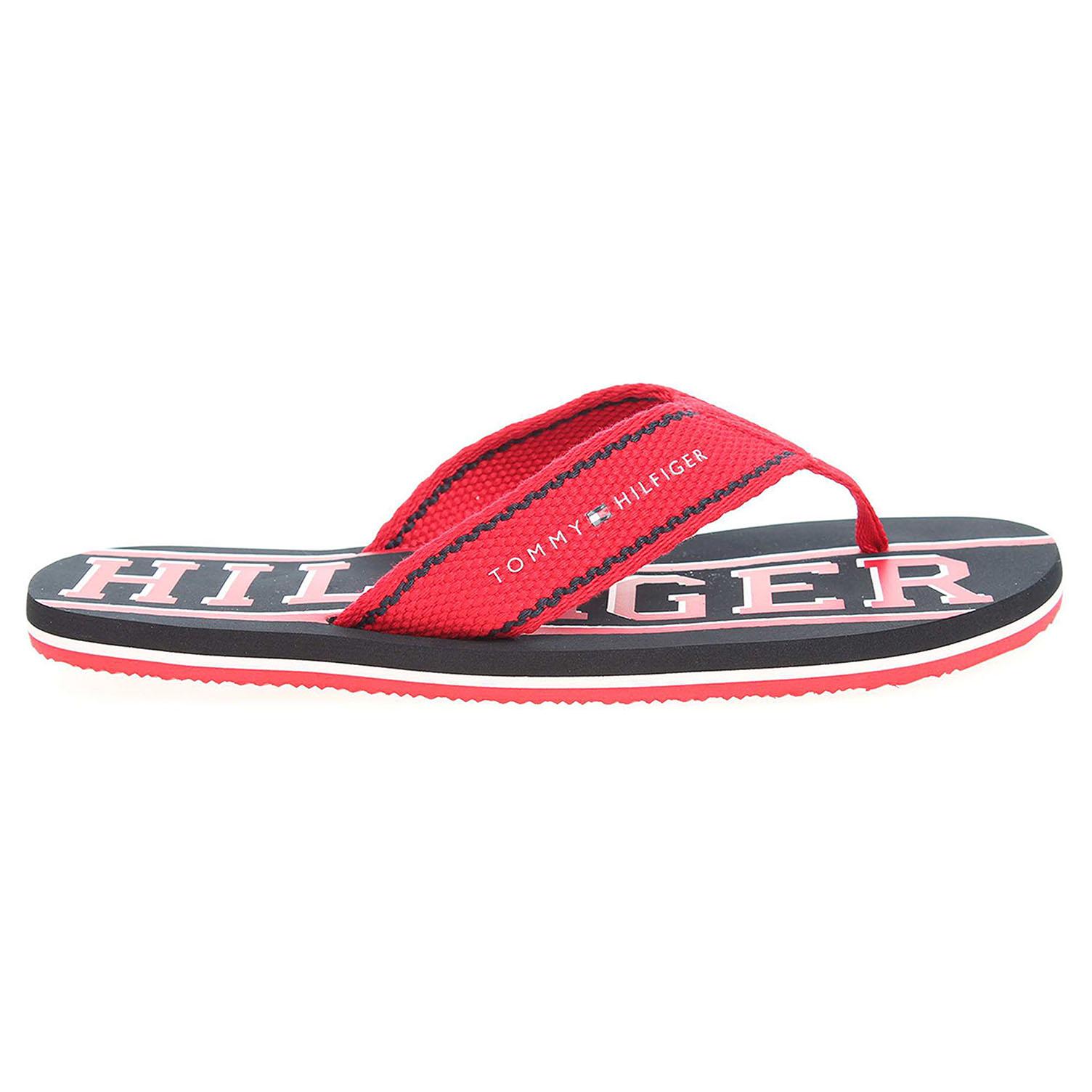 Ecco Tommy Hilfiger pánské pantofle FM0FM00276 f2285loyd 13d červené 24500127