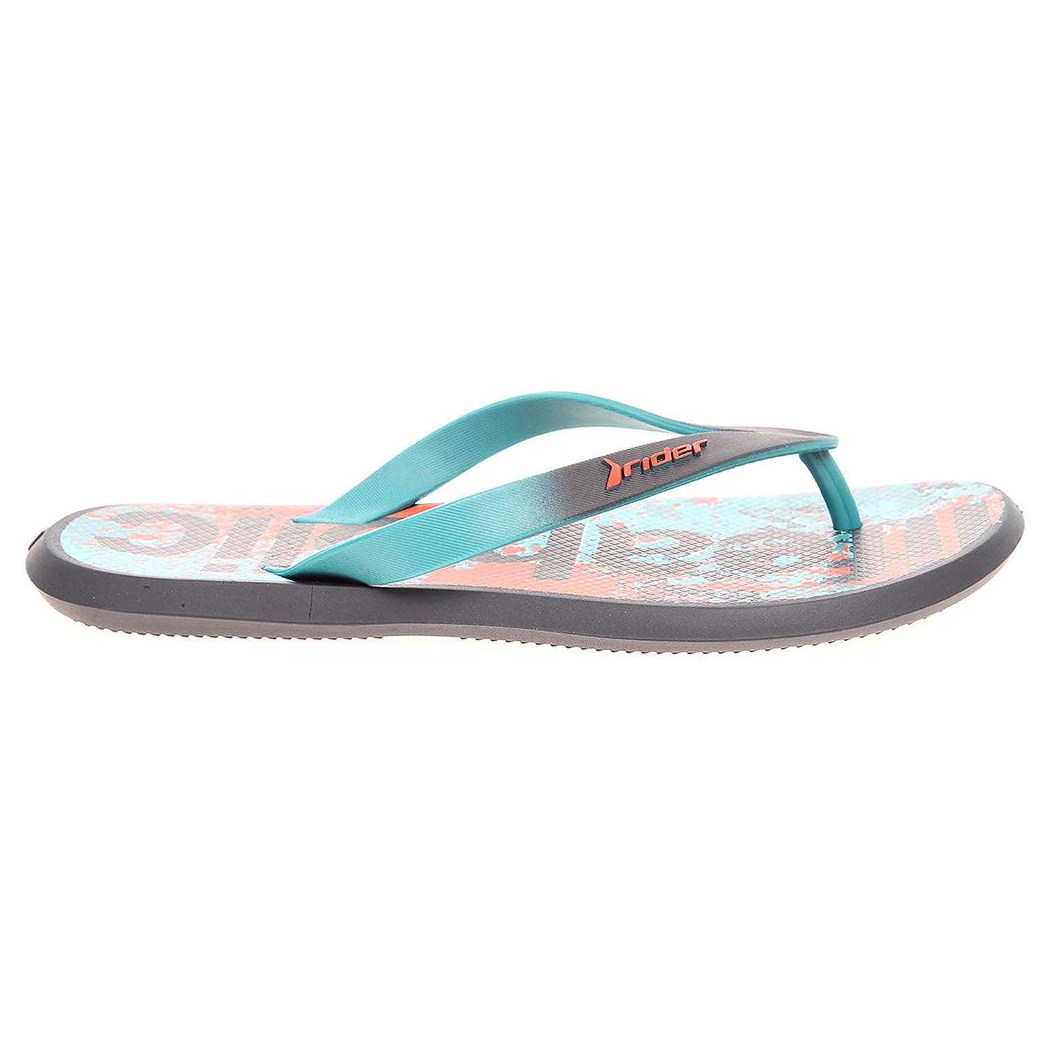Ecco Rider pánské plážové pantofle 82024 23563 modré 24500137