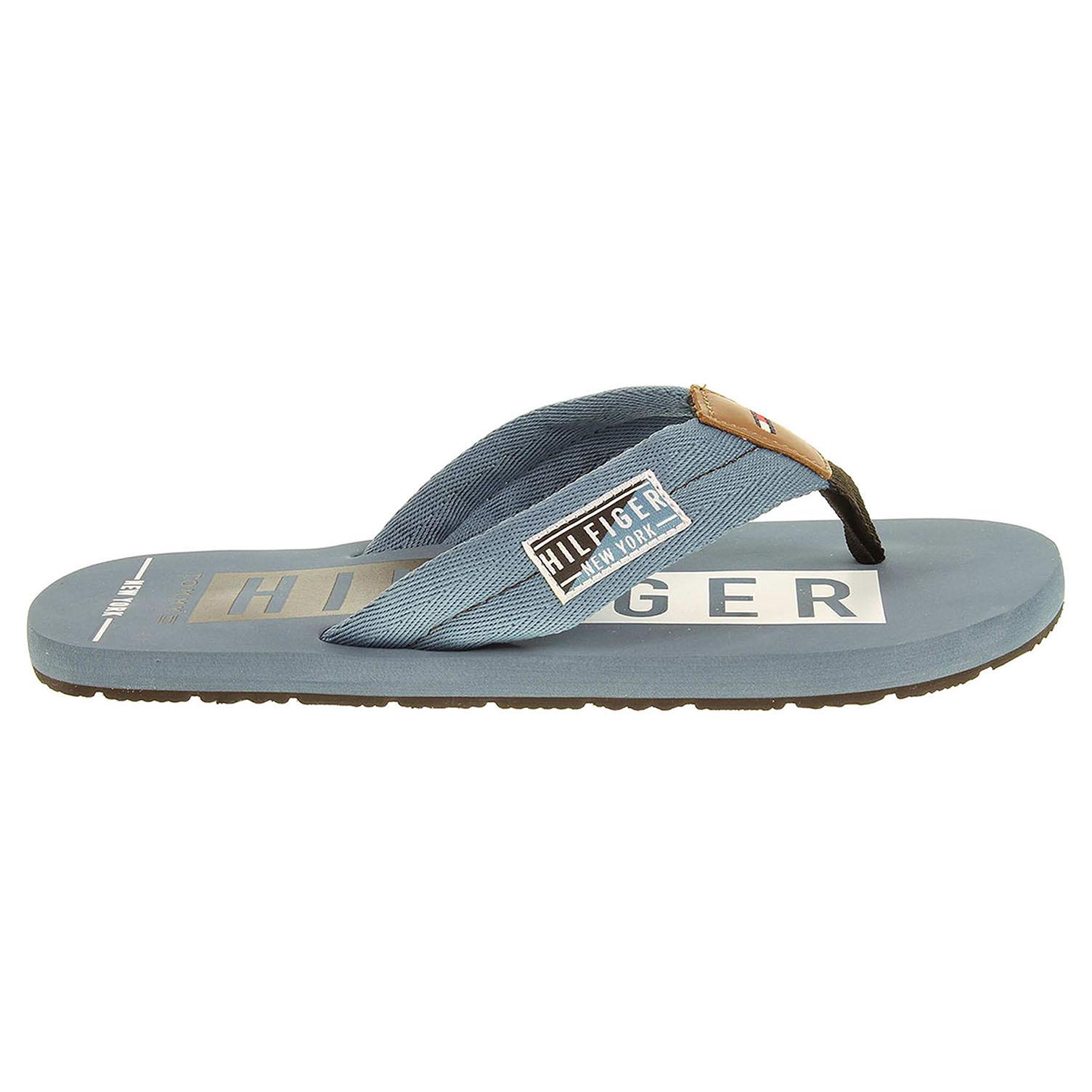 Ecco Tommy Hilfiger pánské pantofle FM0FM00490 B2285UDDY 14D modré 24500144