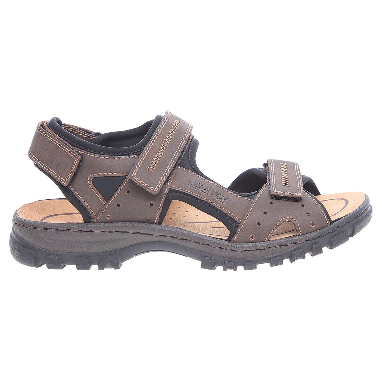 Ecco Rieker pánské sandály 25063-25 hnědé 24700174