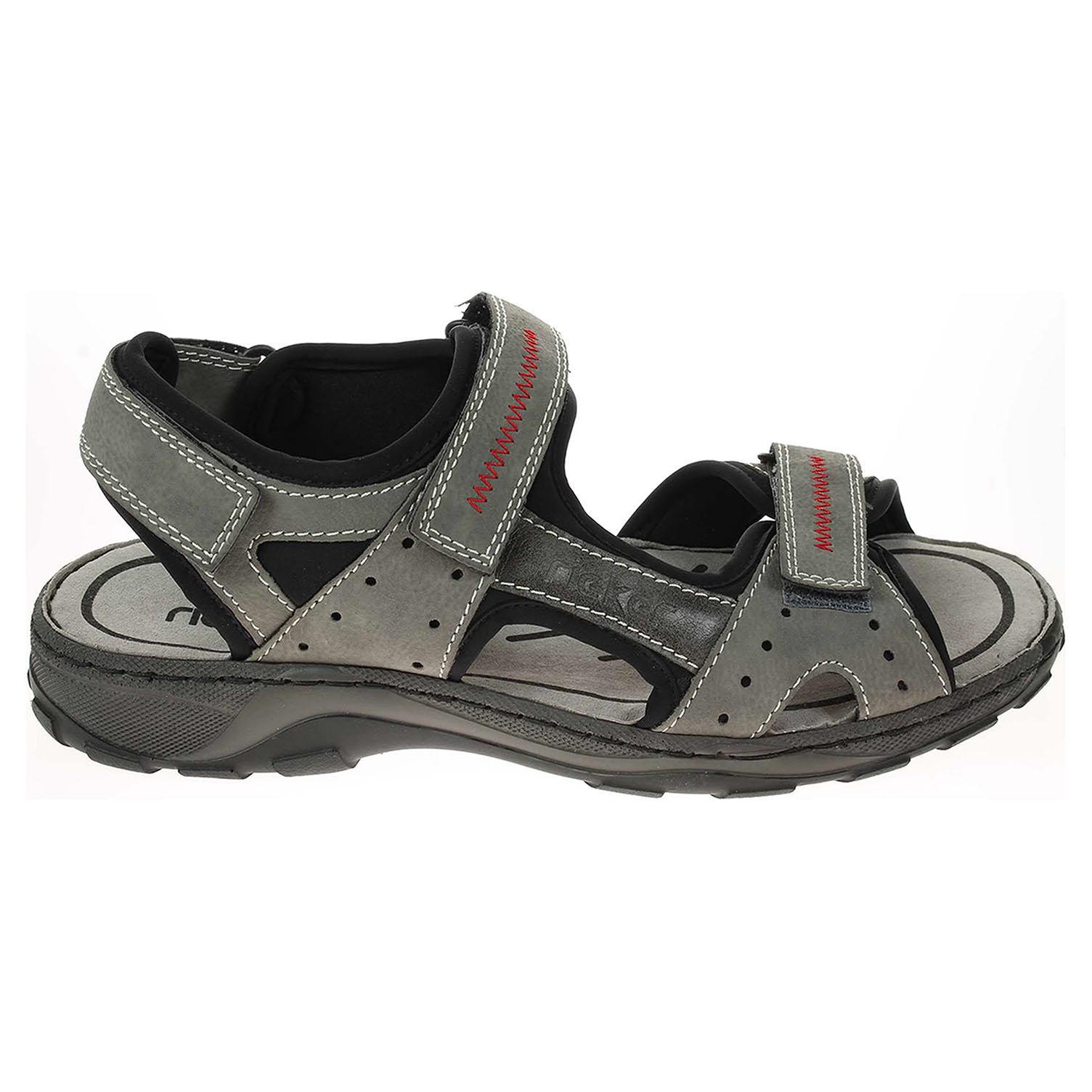 Rieker pánské sandály 26061-41 šedé 41